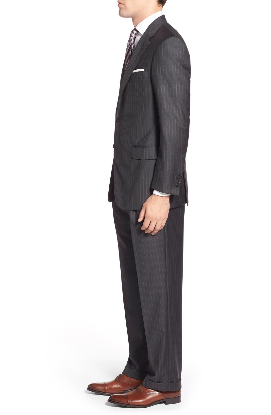 'Addison - A Series' Classic Fit Stripe Wool Suit,                             Alternate thumbnail 2, color,                             031