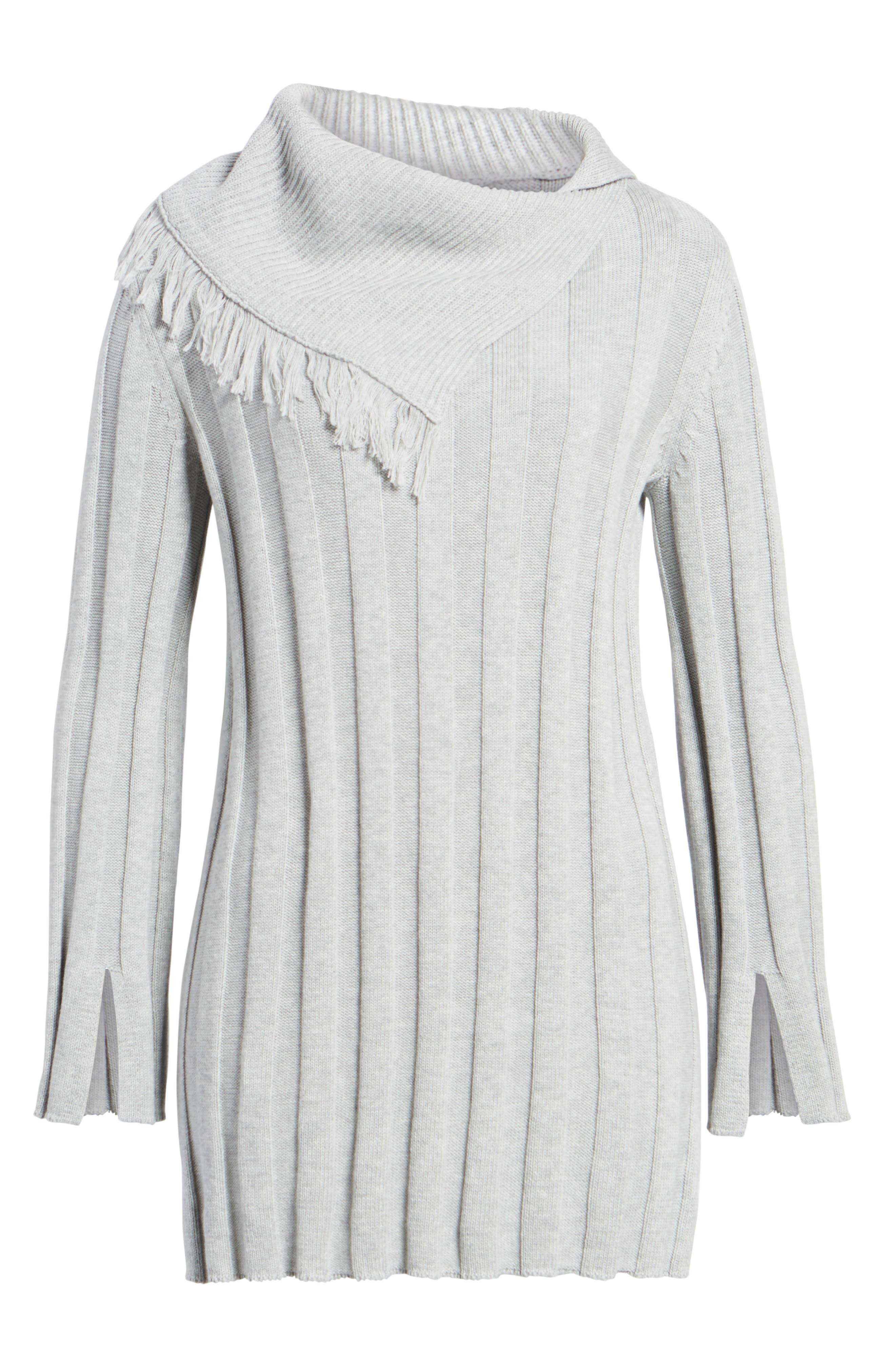 Fringe Cowl Neck Sweater,                             Alternate thumbnail 17, color,