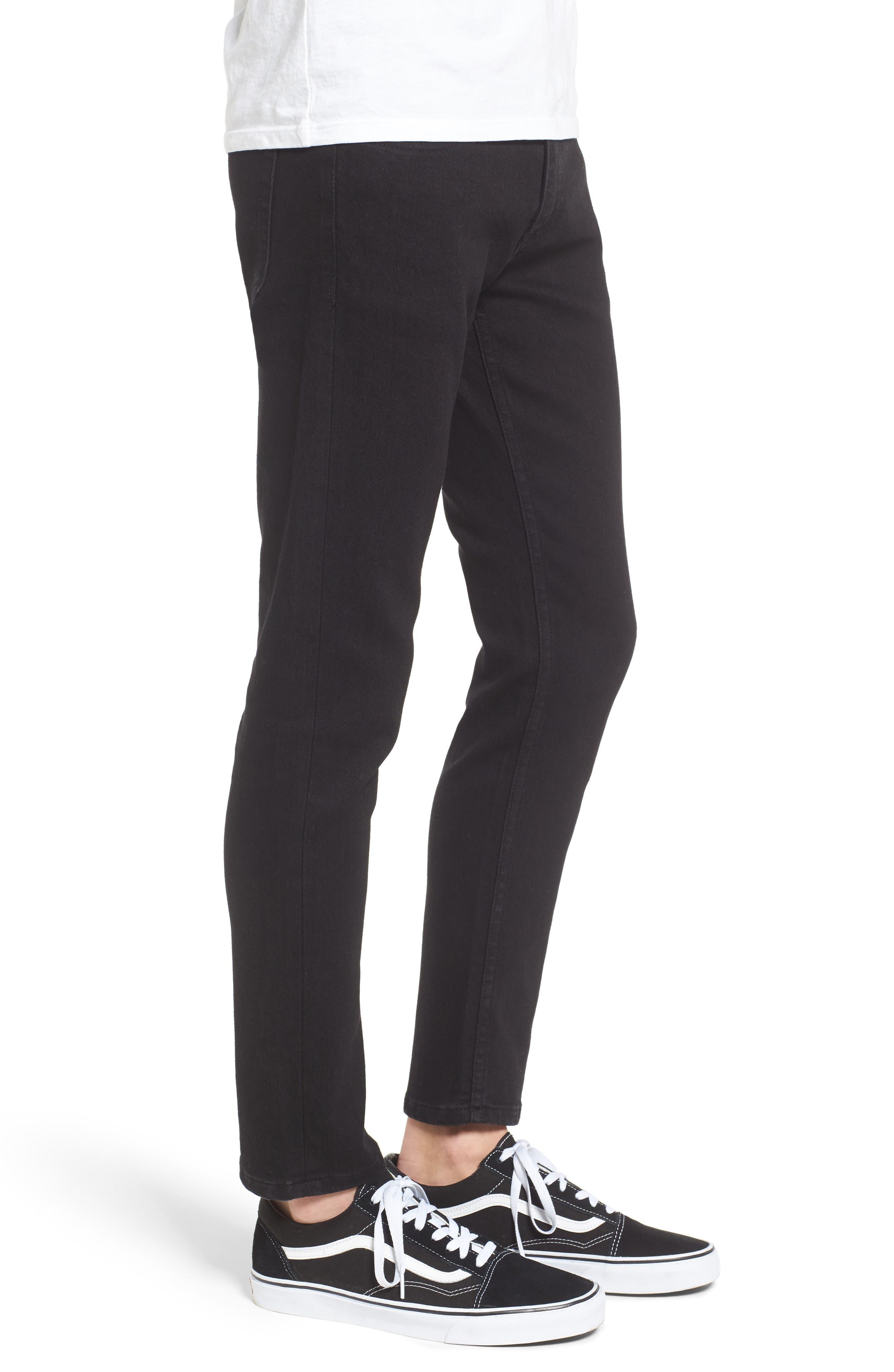 Juvee II Flooded Skinny Fit Jeans,                             Alternate thumbnail 3, color,                             001