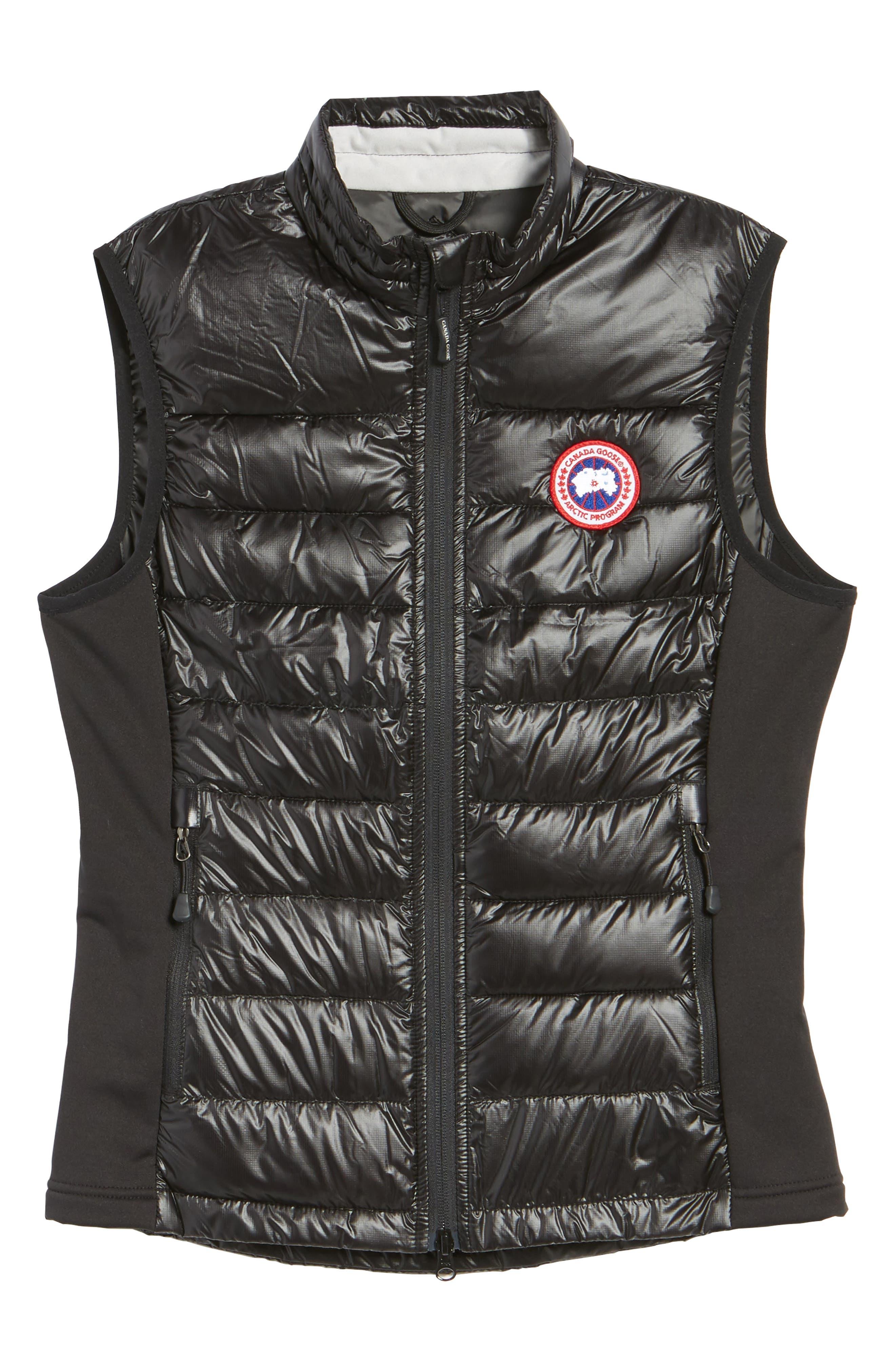'Hybridge Lite' Slim Fit Packable Down Vest,                             Alternate thumbnail 6, color,                             BLACK/ GRAPHITE