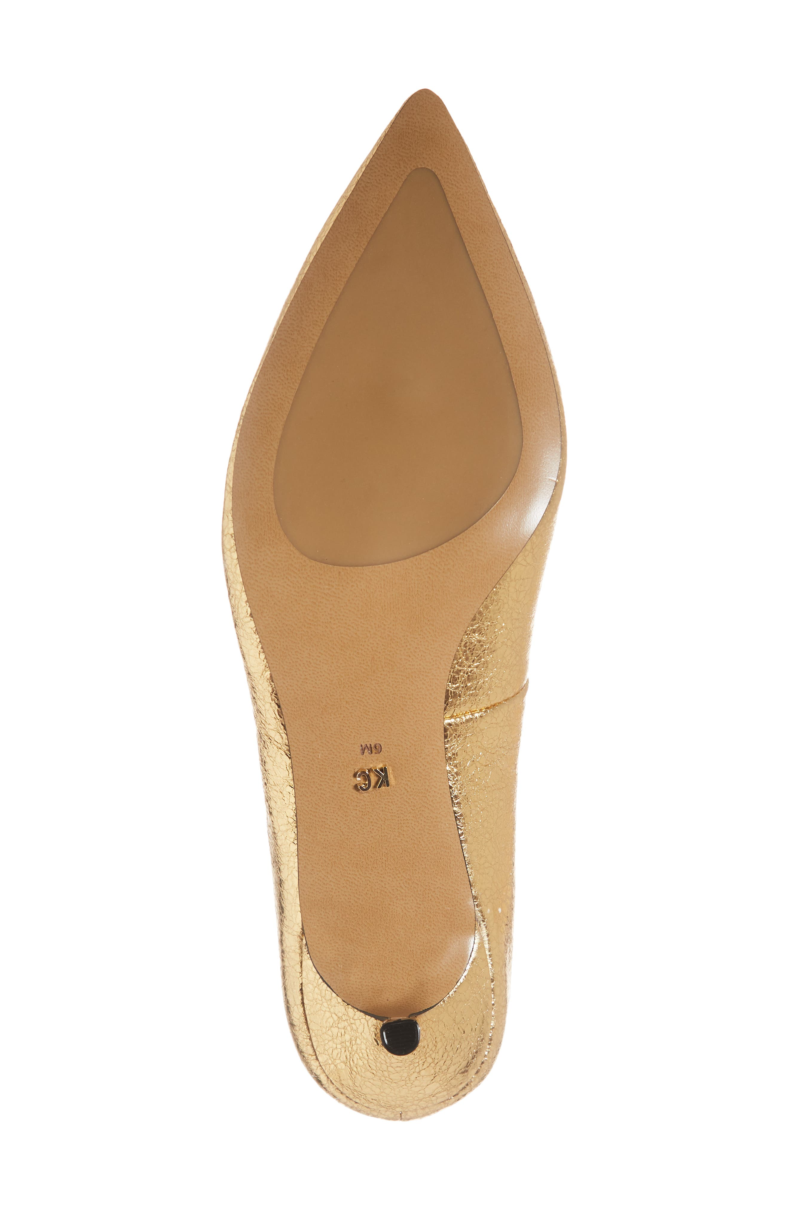 Riley 50 Pump,                             Alternate thumbnail 6, color,                             YELLOW GOLD LEATHER