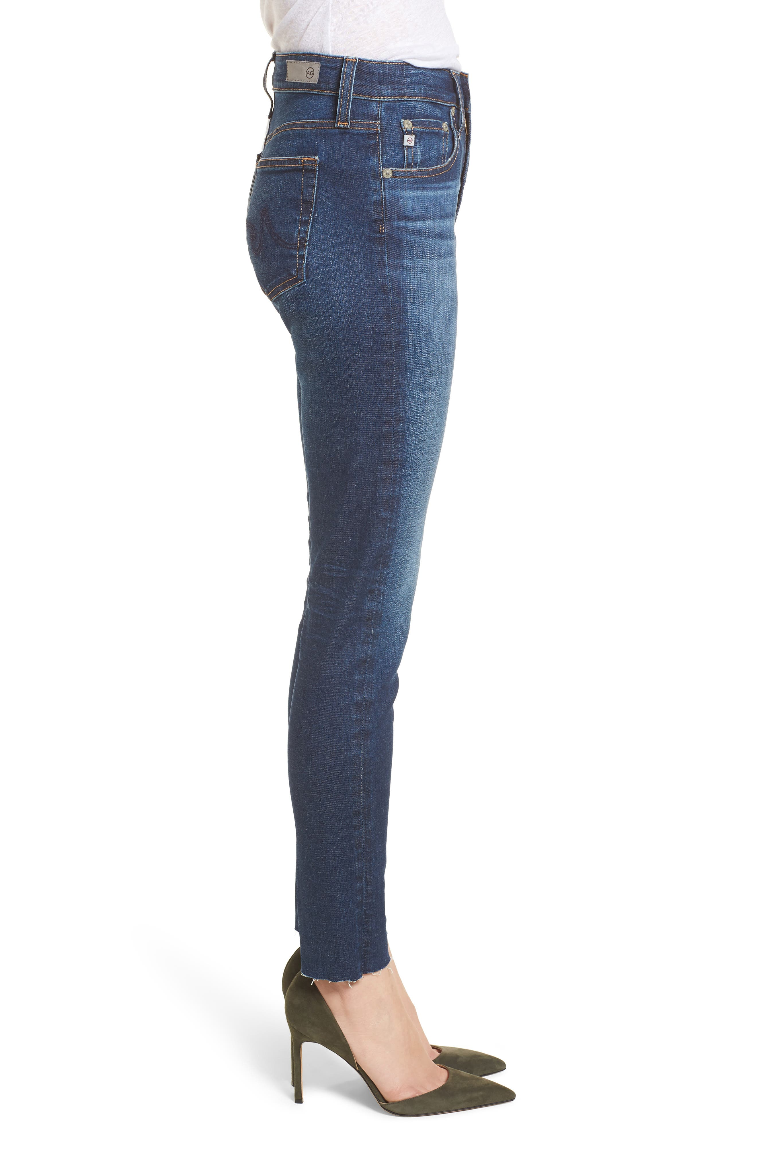 The Farrah High Waist Ankle Skinny Jeans,                             Alternate thumbnail 3, color,                             7 YEAR CHASM