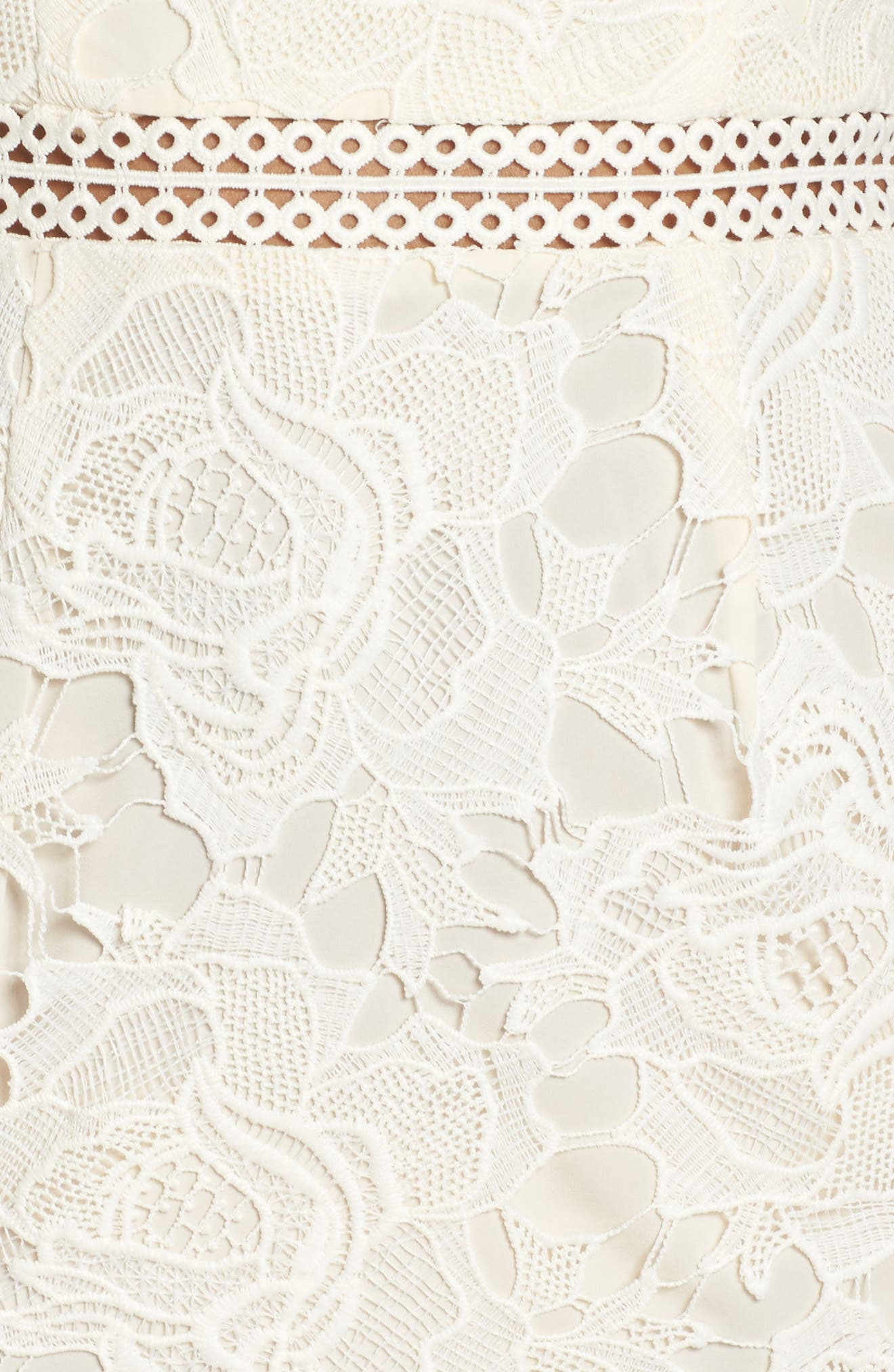 Lustrous High Neck Lace Sheath Dress,                             Alternate thumbnail 5, color,                             112