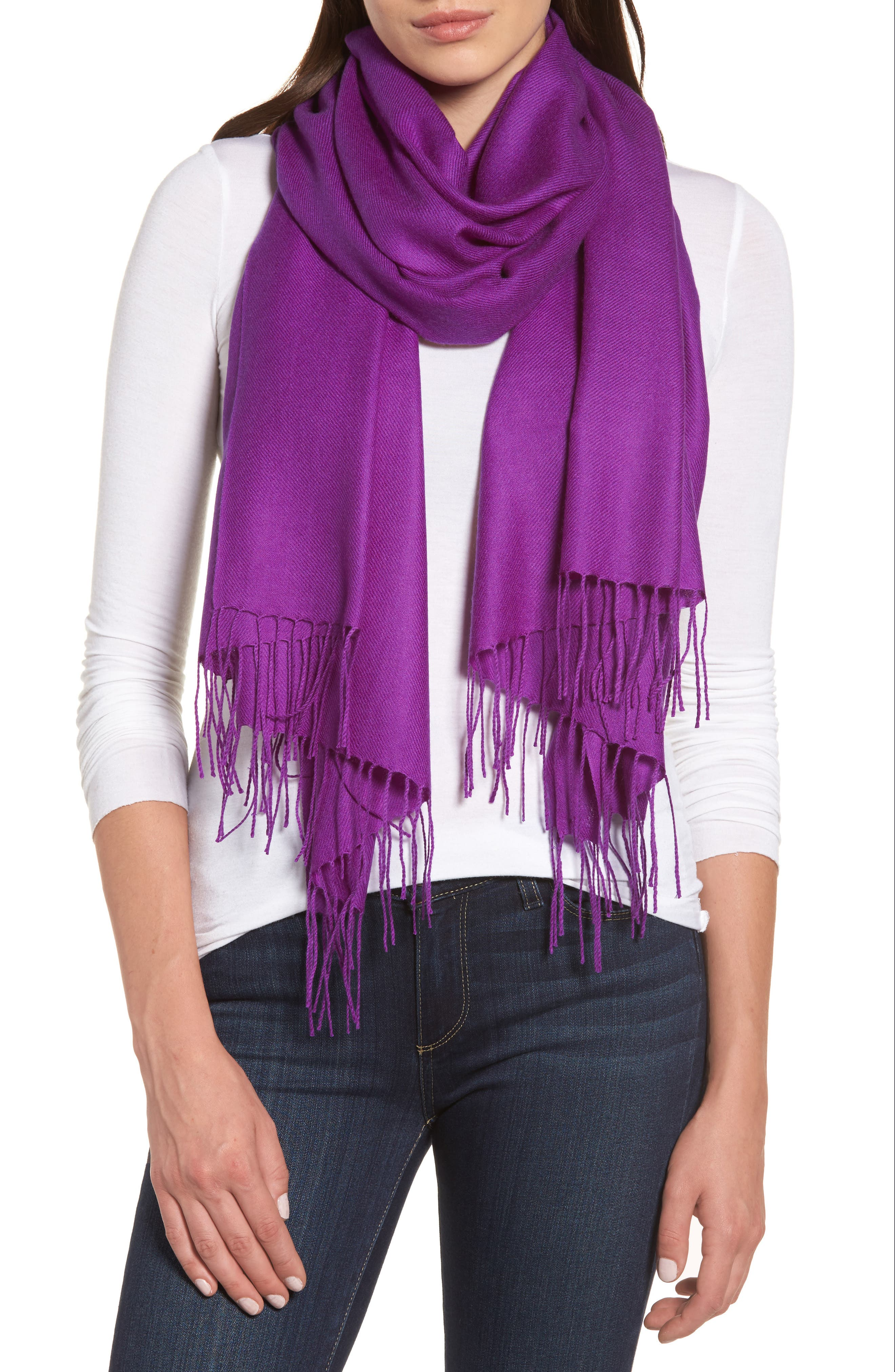 Tissue Weight Wool & Cashmere Scarf,                             Main thumbnail 50, color,