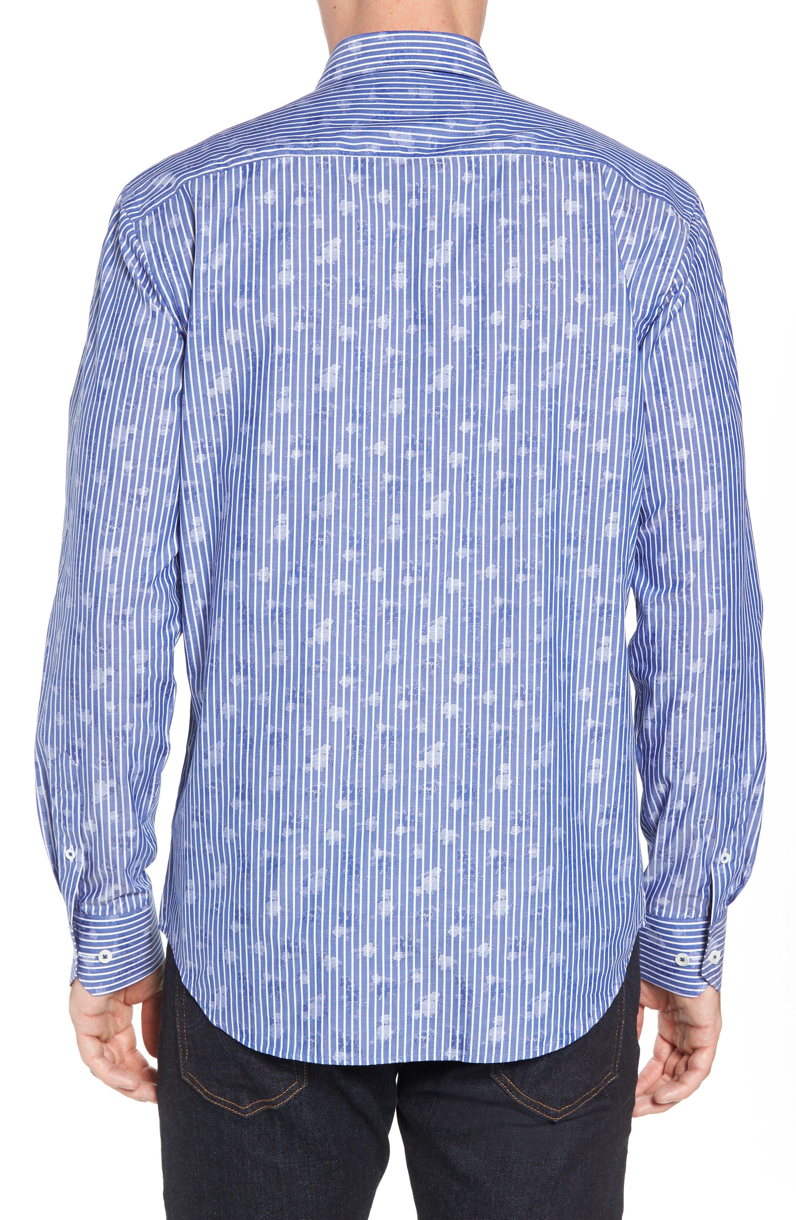 Shaped Fit Layered Print Sport Shirt,                             Alternate thumbnail 2, color,                             411