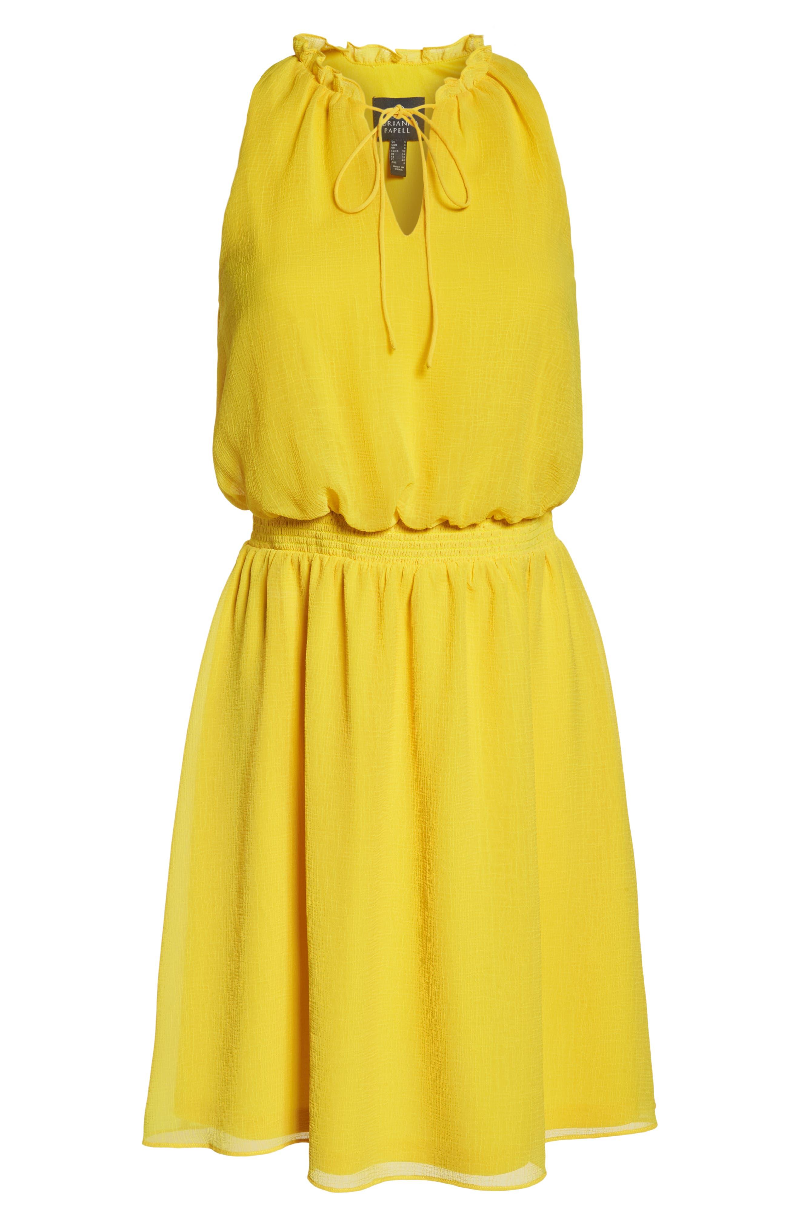 Sleeveless Chiffon Blouson Dress,                             Alternate thumbnail 7, color,                             724