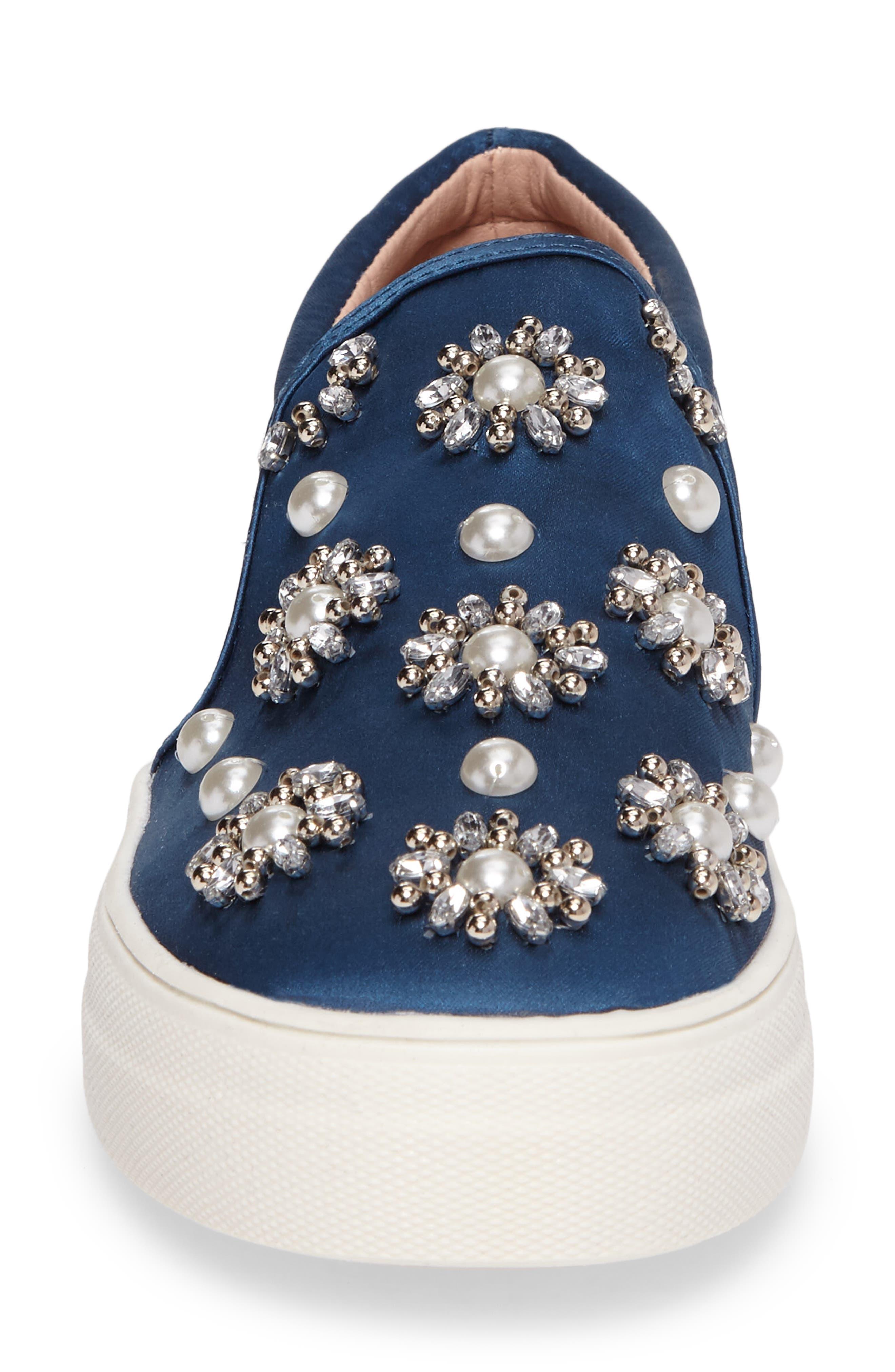 Tilt Embellished Slip-On Sneaker,                             Alternate thumbnail 4, color,                             400