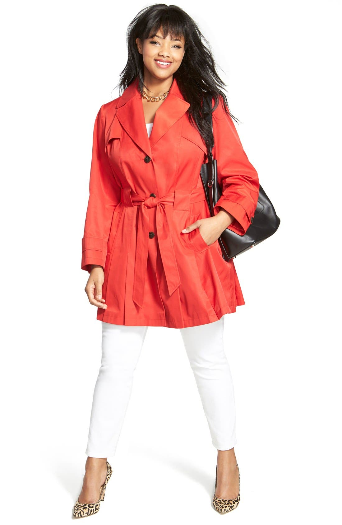 'Scarpa' Single Breasted Trench Coat,                             Alternate thumbnail 11, color,