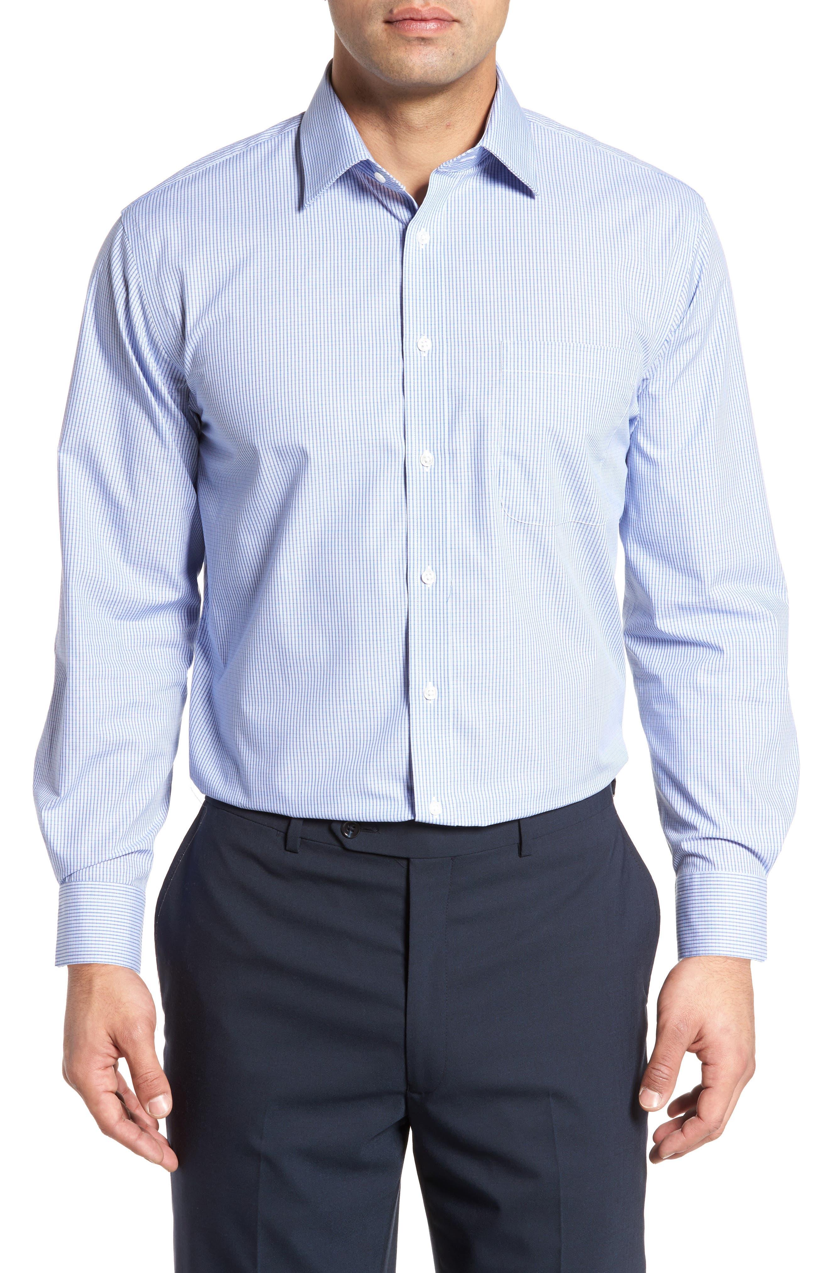 Traditional Fit Non-Iron Check Dress Shirt,                             Main thumbnail 2, color,