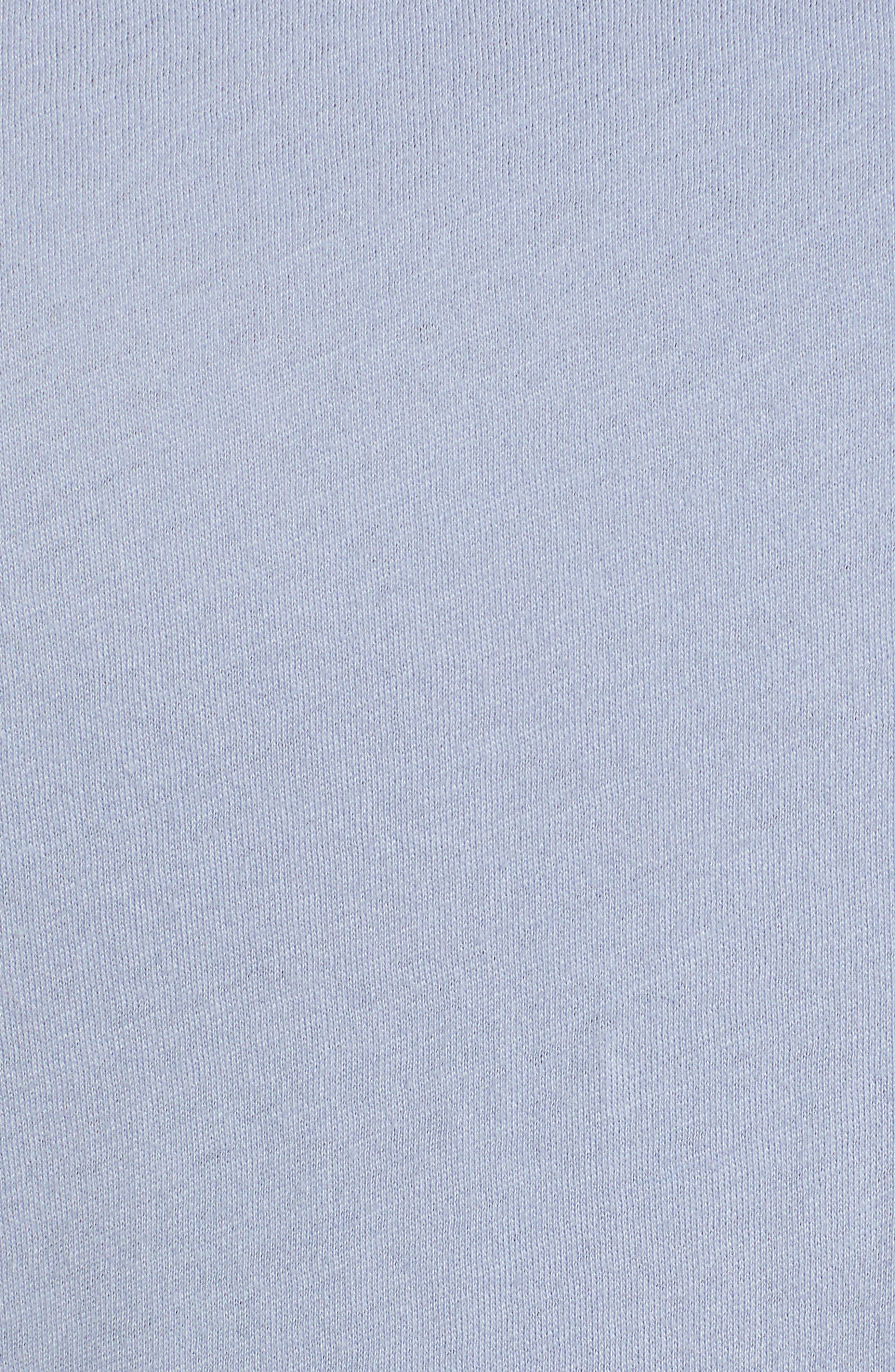 Mock Neck Cotton Tee,                             Alternate thumbnail 6, color,                             BLUE BRUNNERA