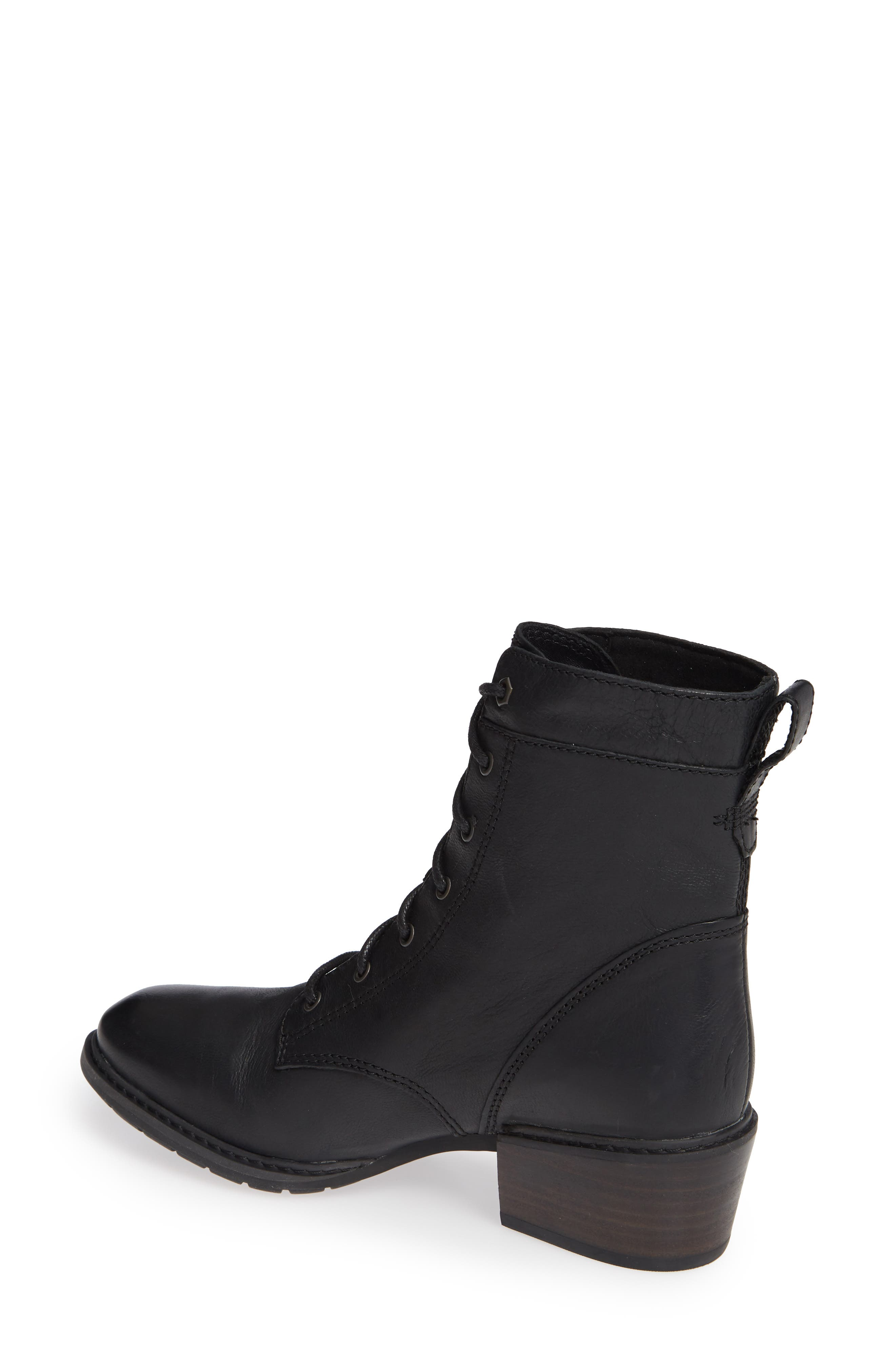 Sutherlin Bay Water Resistant Lace-Up Bootie,                             Alternate thumbnail 2, color,                             JET BLACK LEATHER