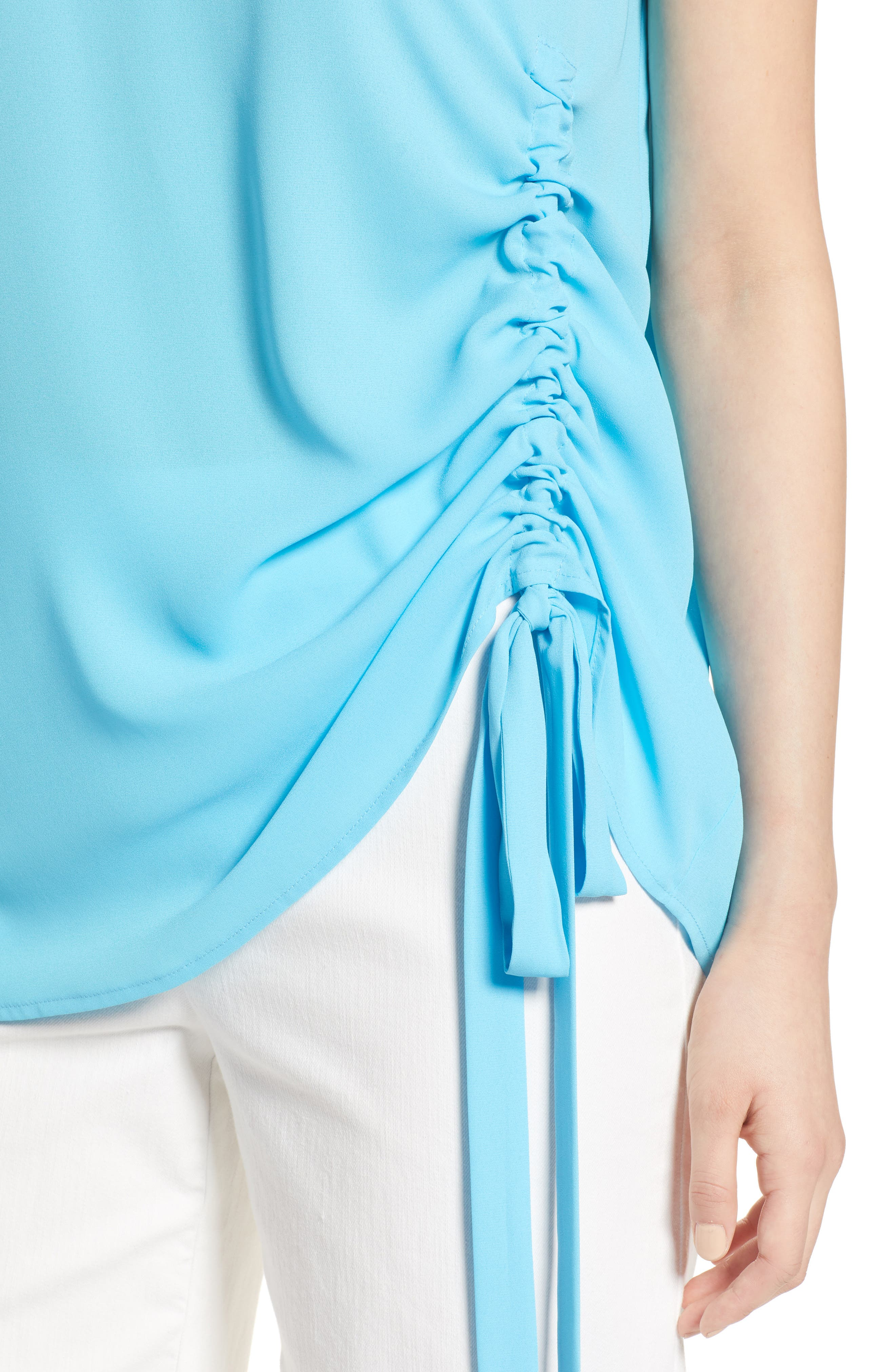 Side Ruched Top,                             Alternate thumbnail 17, color,