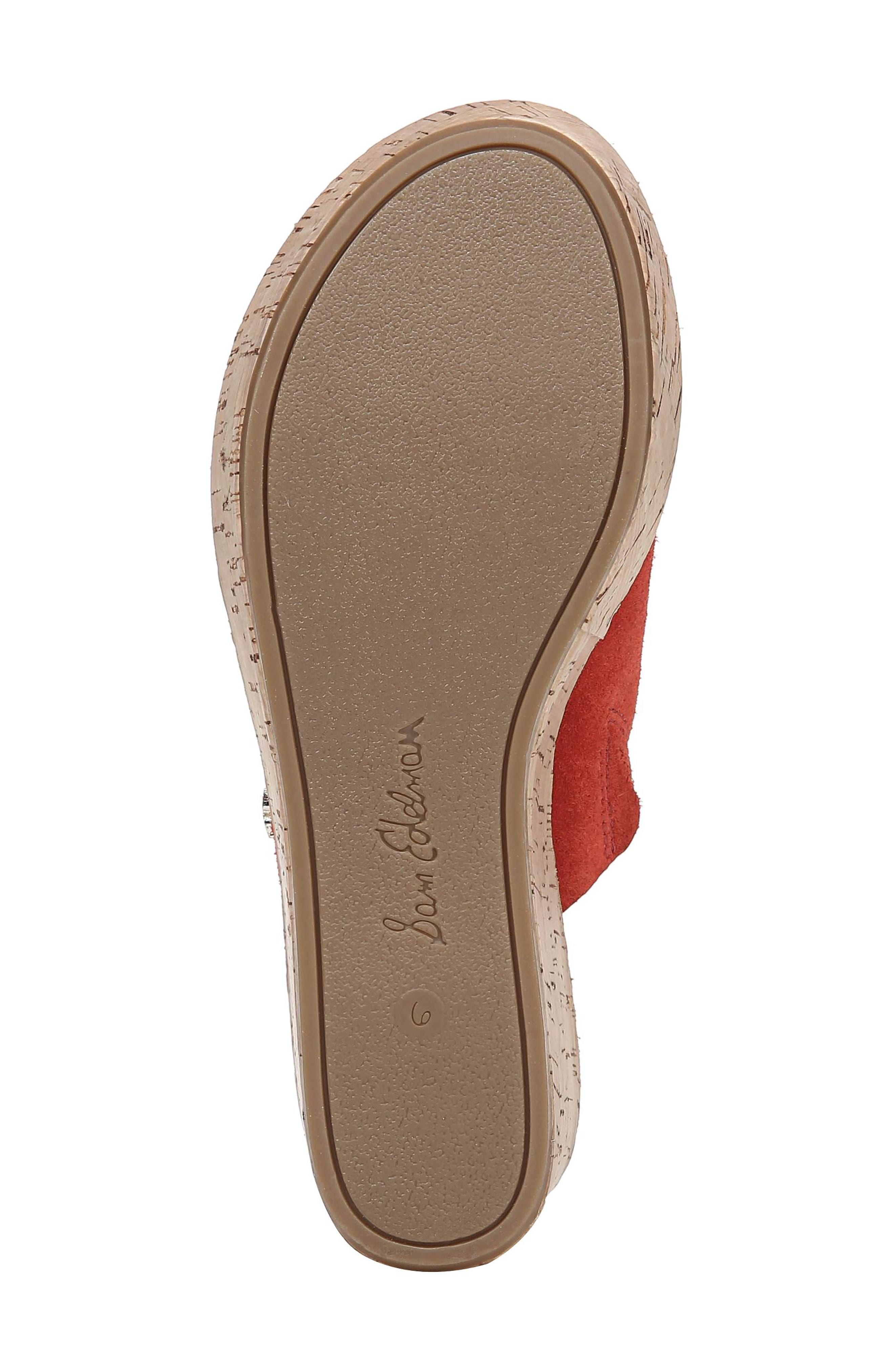 Ranger Platform Sandal,                             Alternate thumbnail 6, color,                             CANDY RED SUEDE