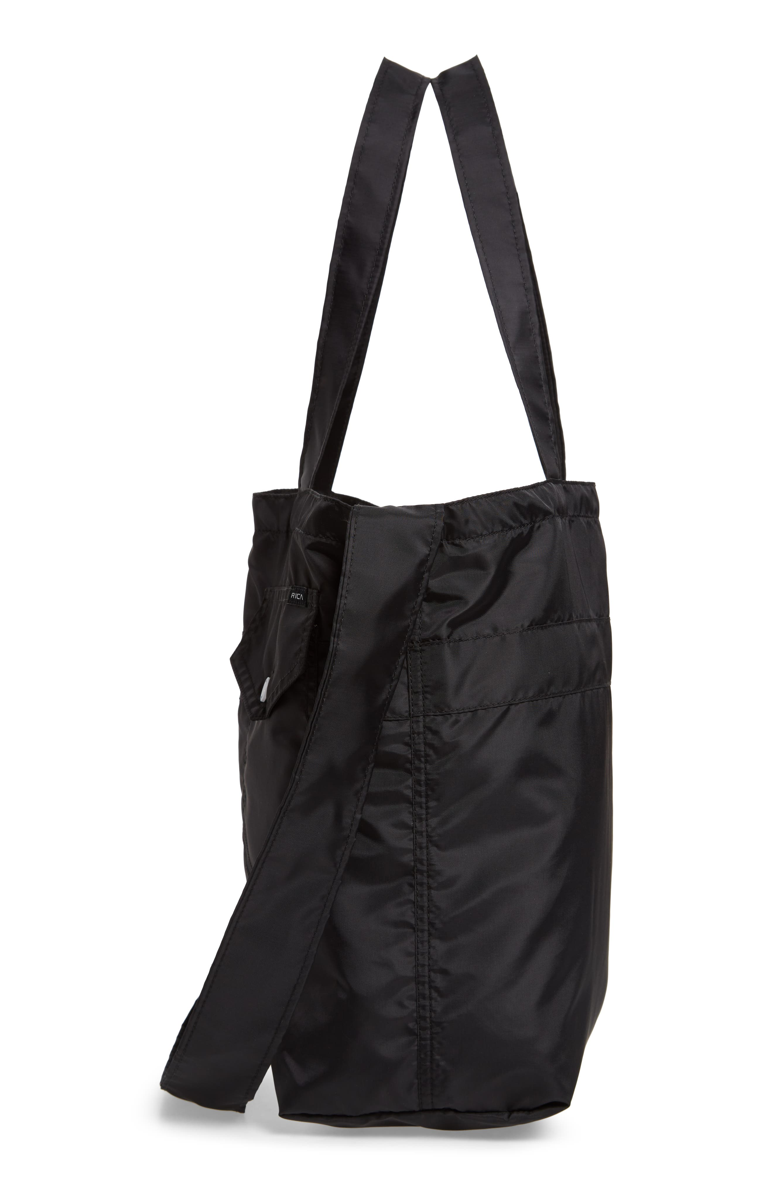 Bomber Nylon Tote,                             Alternate thumbnail 5, color,                             001