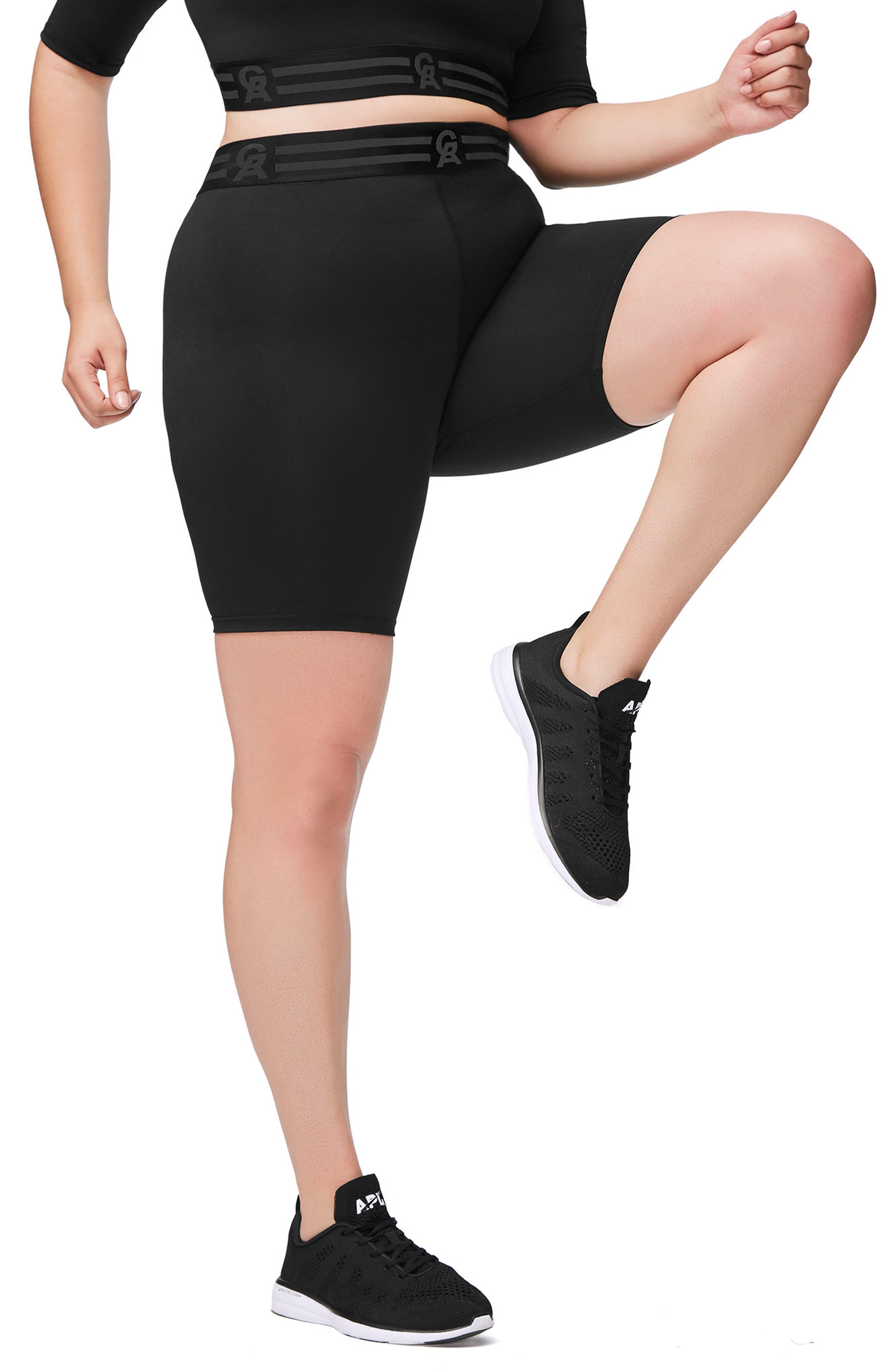 Icon High Waist Biker Shorts,                             Alternate thumbnail 9, color,                             BLACK001