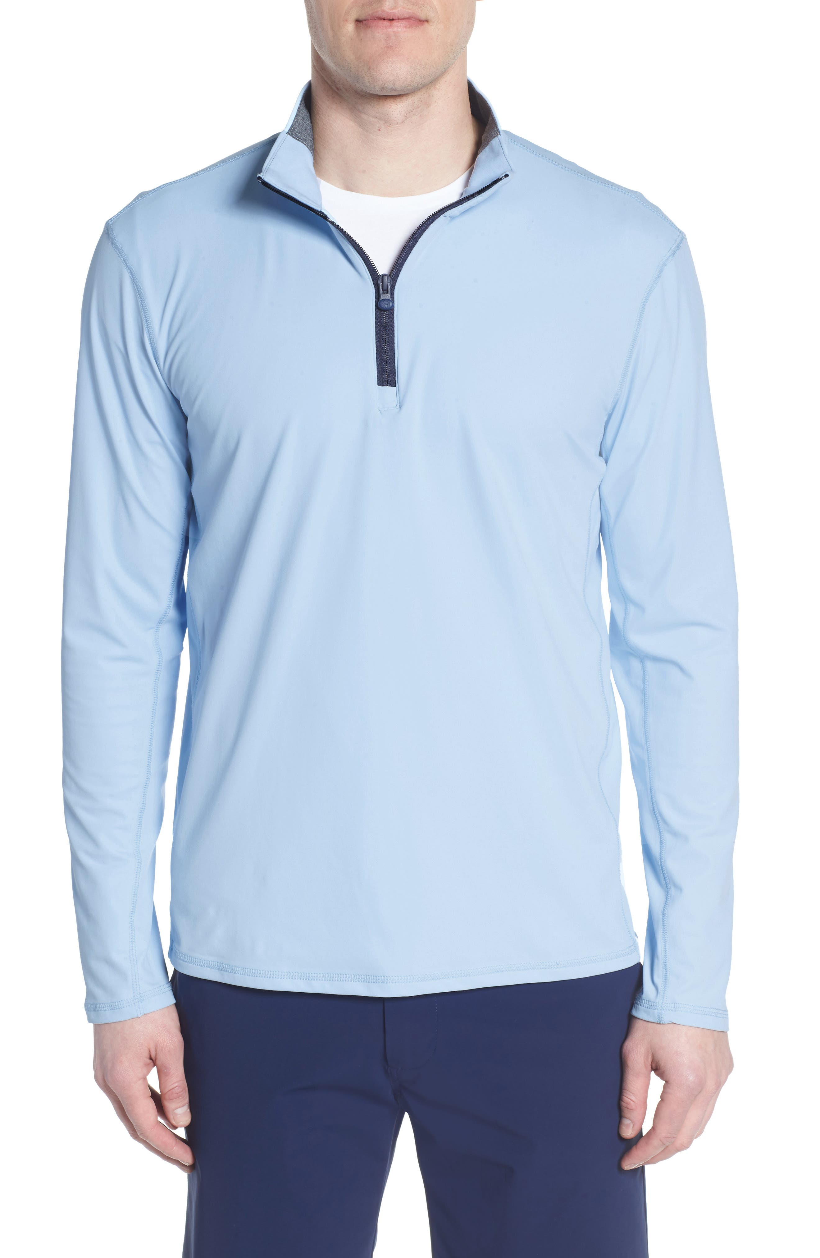Tate Quarter Zip Pullover,                             Main thumbnail 1, color,                             WOLF