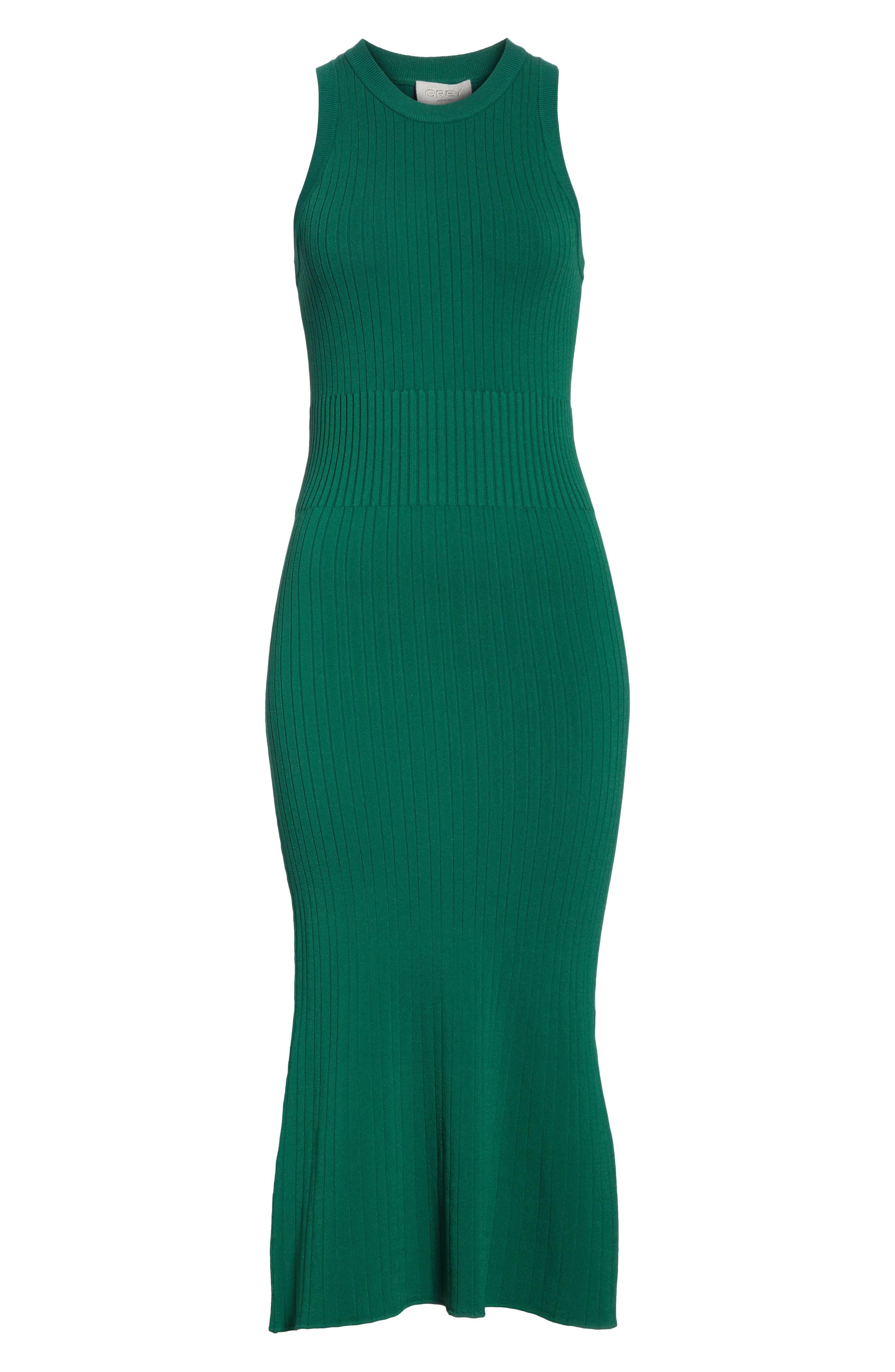 Rib Knit Midi Dress,                             Alternate thumbnail 11, color,