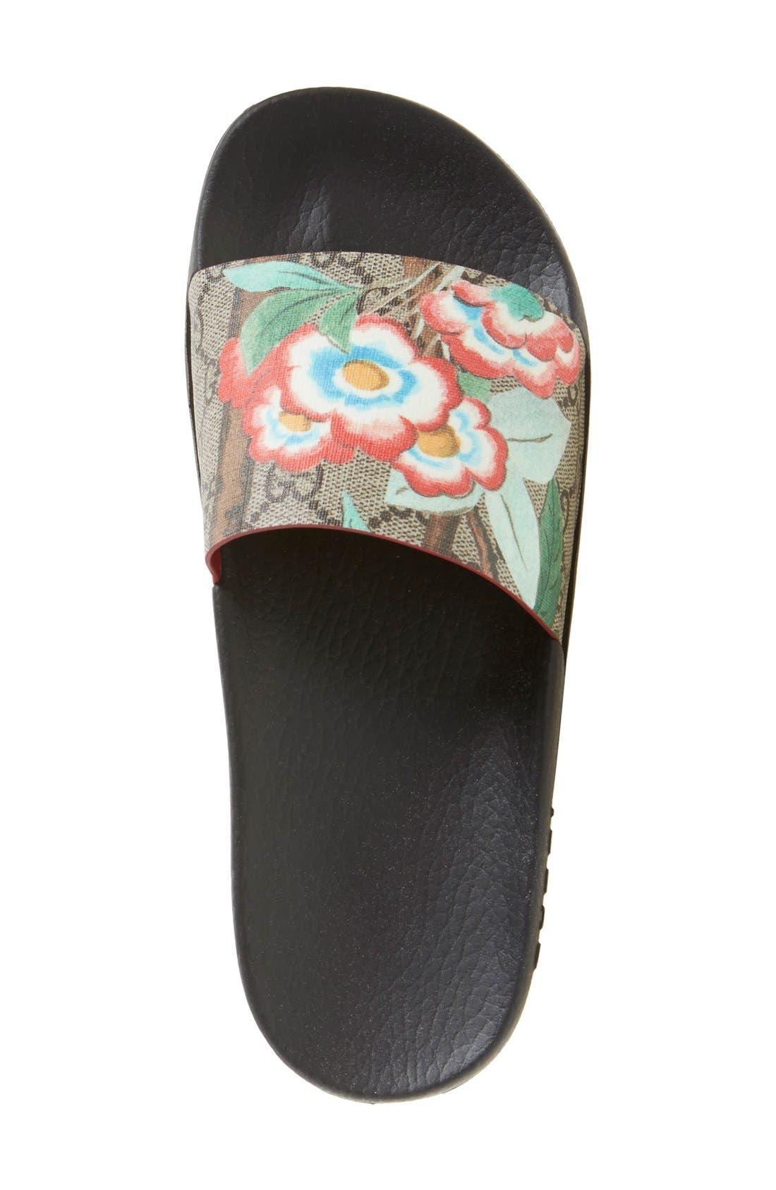 Pursuit Floral Logo Slide Sandal,                             Alternate thumbnail 4, color,                             283