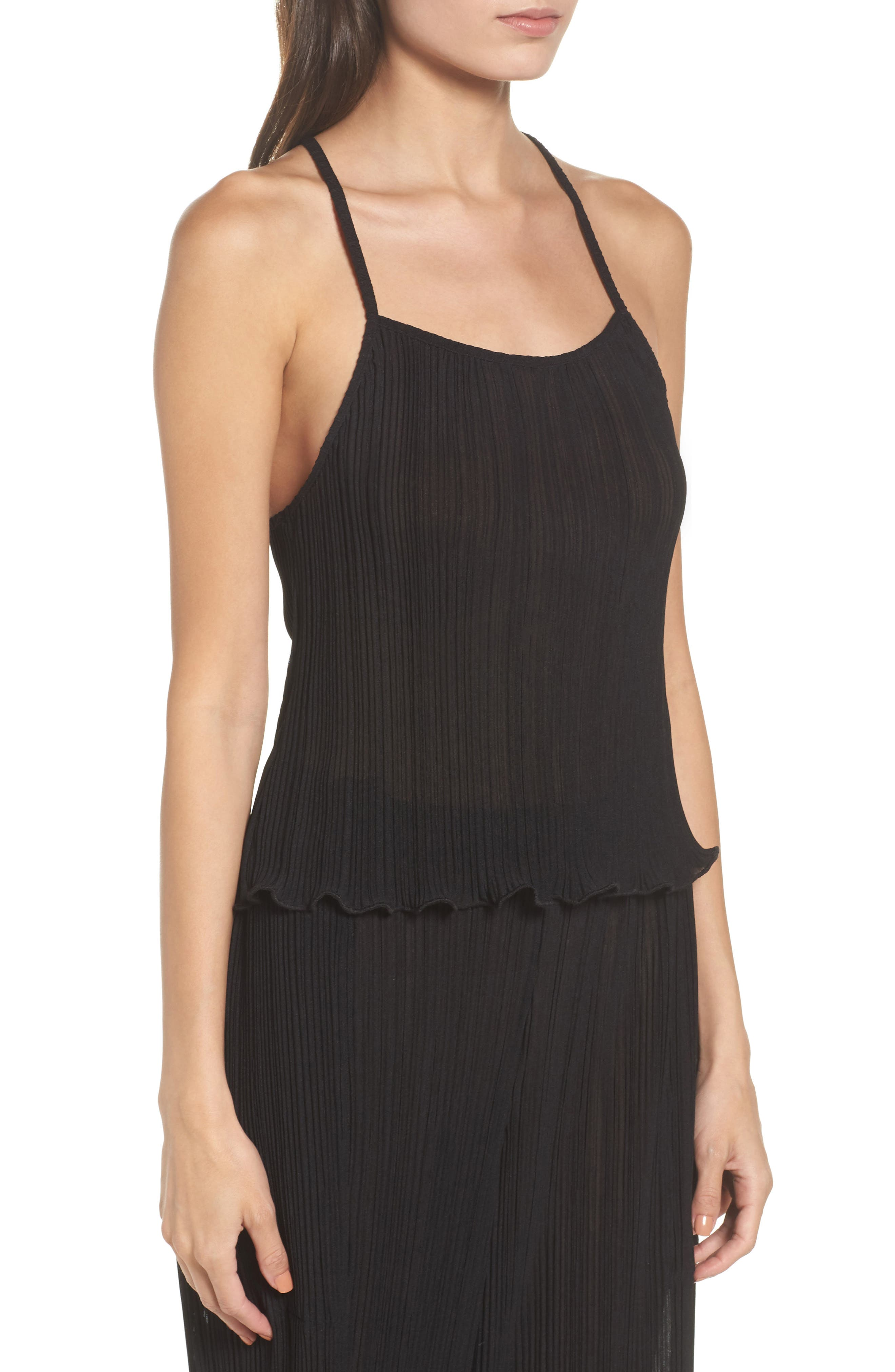 Pleated Tank,                             Alternate thumbnail 3, color,                             009