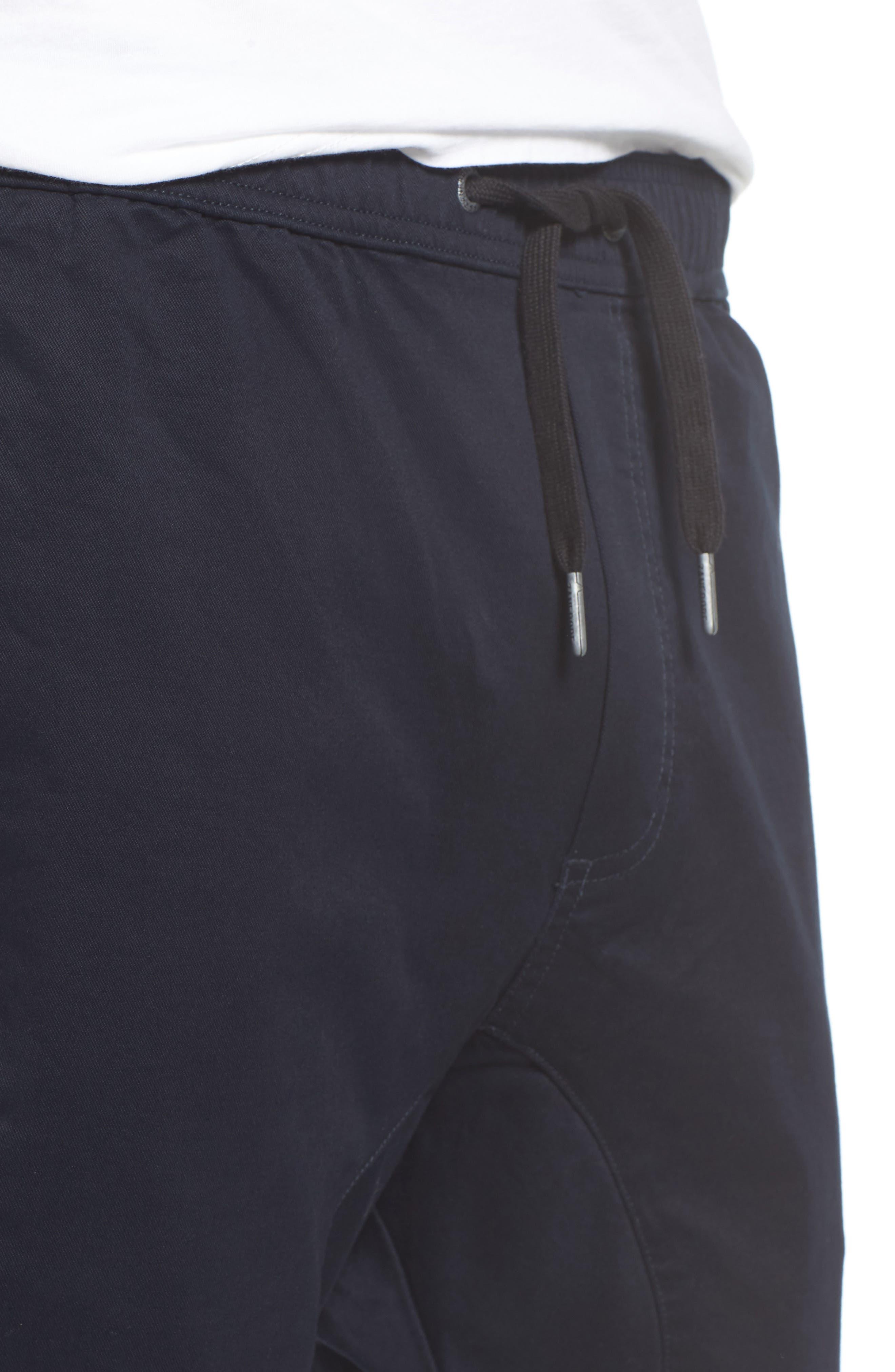 ZANEROBE,                             Salerno Stretch Woven Jogger Pants,                             Alternate thumbnail 4, color,                             NAVY