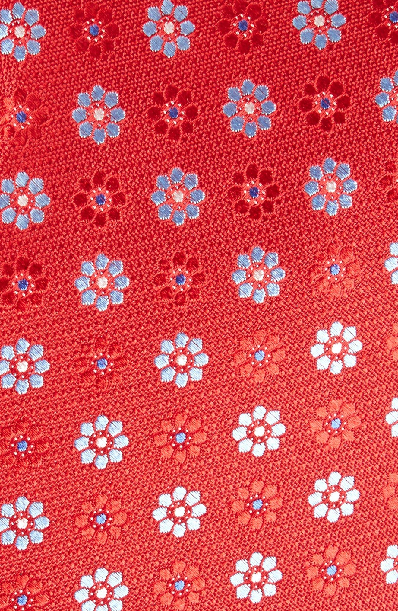 John W. Nordstrom Floral Silk Tie,                             Alternate thumbnail 9, color,