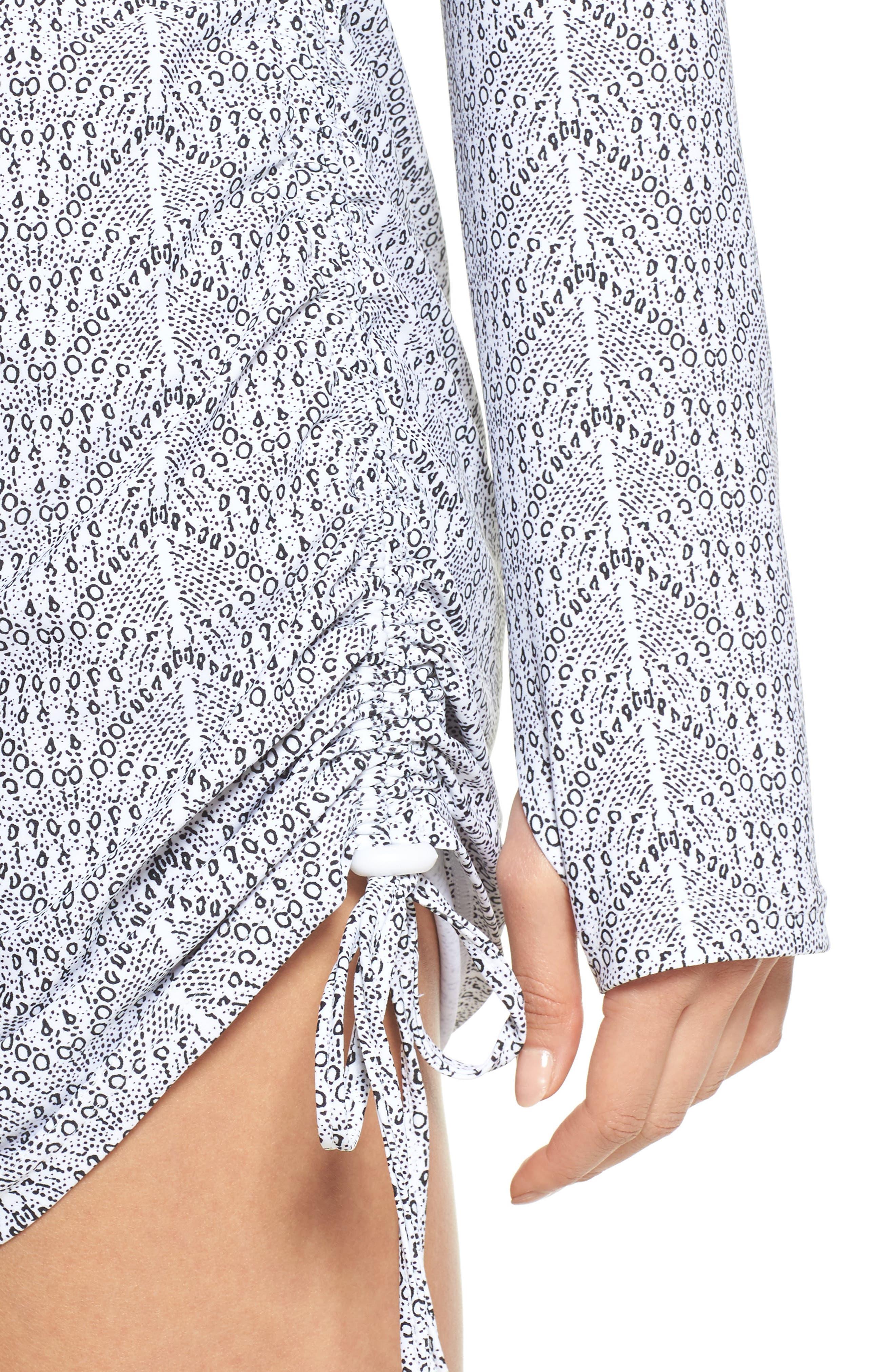 'Sonja' Long Sleeve Half Zip Convertible Swimdress,                             Alternate thumbnail 32, color,
