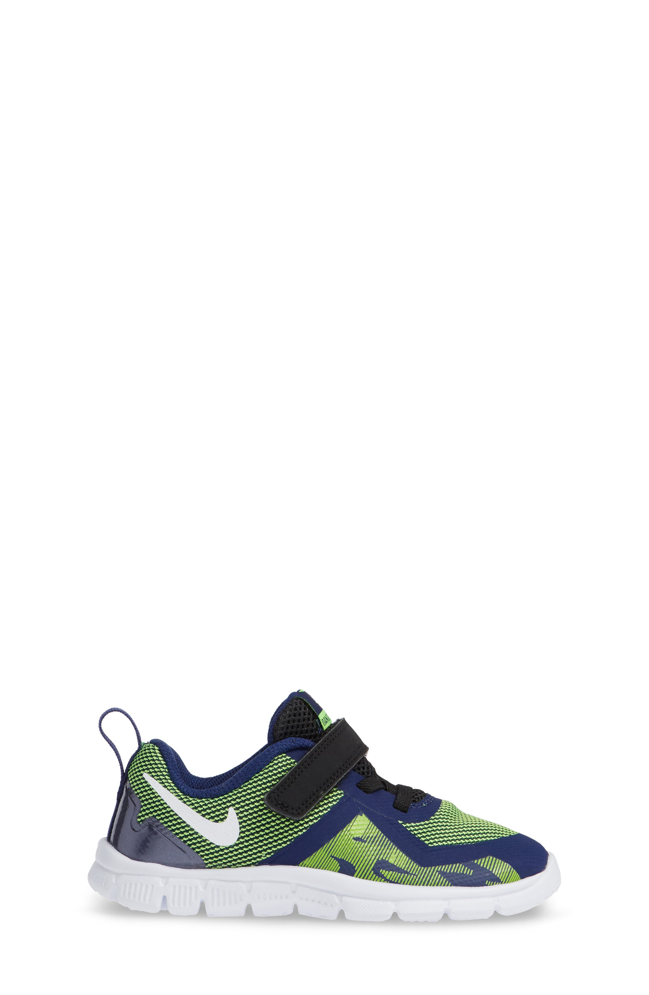 Flex Control II Training Shoe,                             Alternate thumbnail 3, color,                             BLUE/ WHITE/ ELECTRIC GREEN