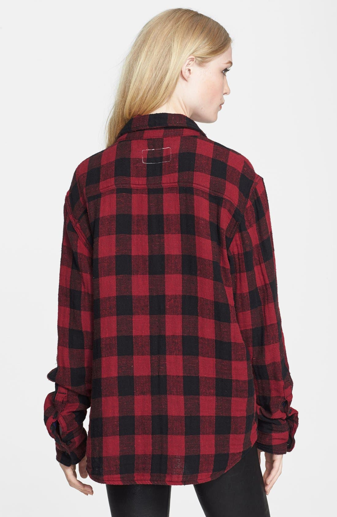 JEAN 'The Leeds' Plaid Shirt,                             Alternate thumbnail 2, color,                             600