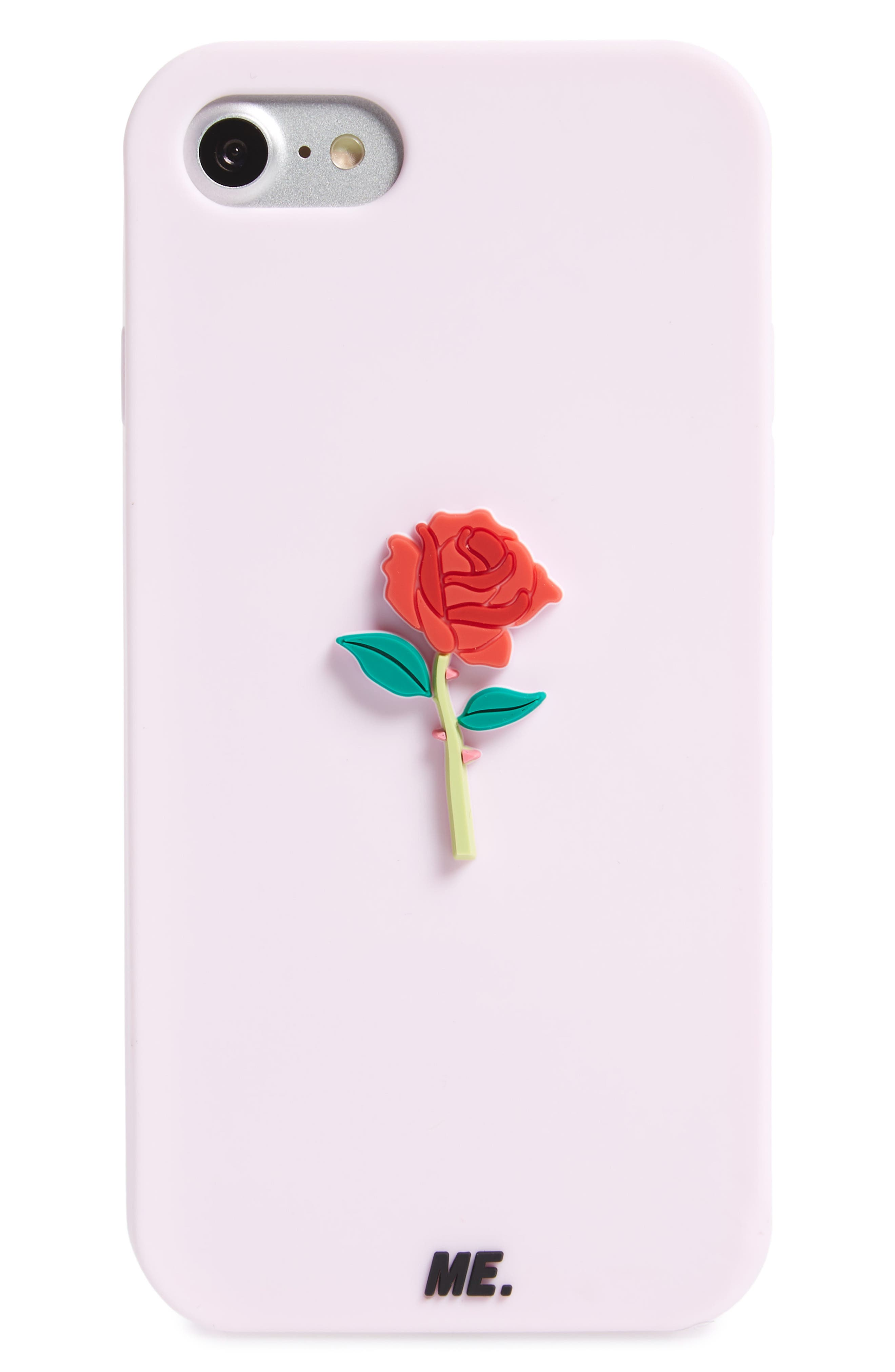 Rose iPhone 6/7/8 Case,                             Main thumbnail 1, color,