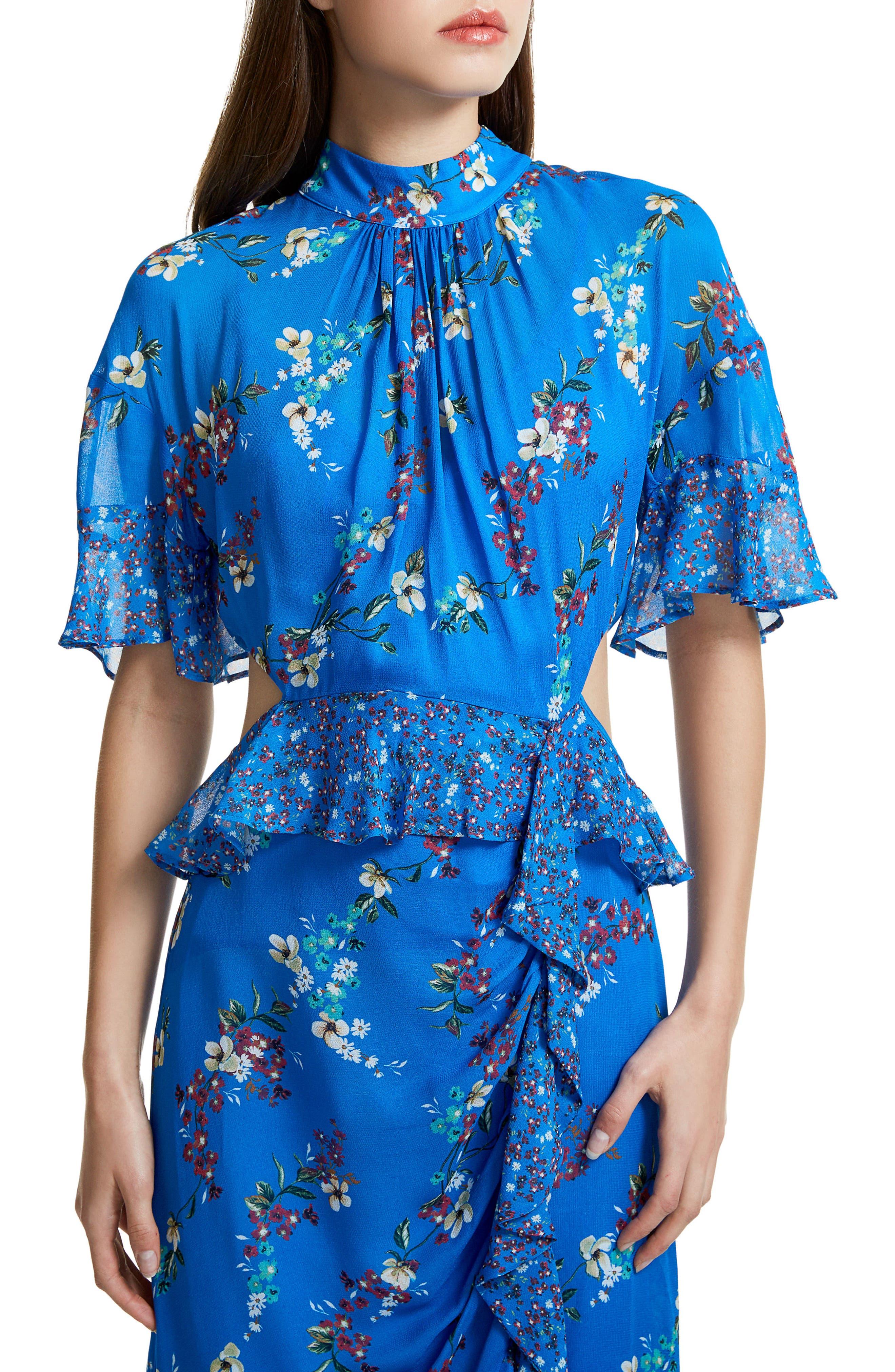 Melsa Cutout Maxi Dress,                             Alternate thumbnail 4, color,