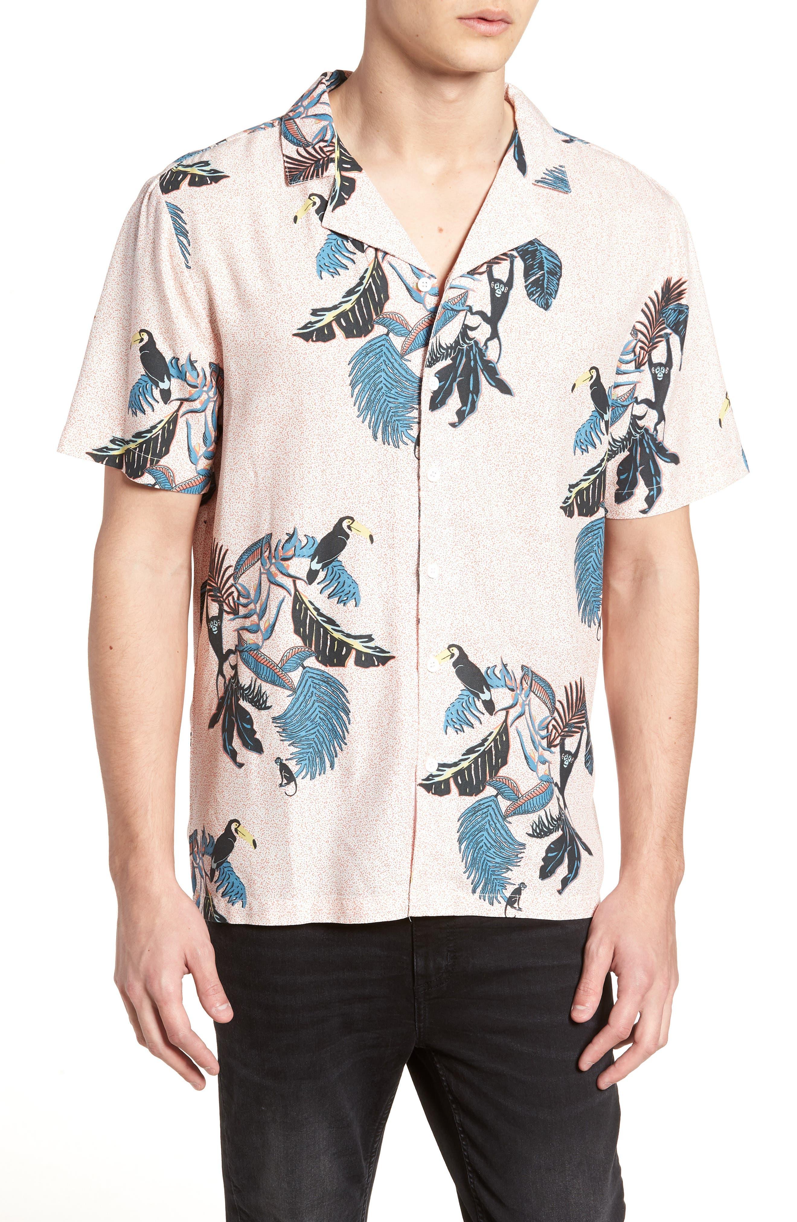 Jangala Woven Shirt,                             Main thumbnail 1, color,                             PINK