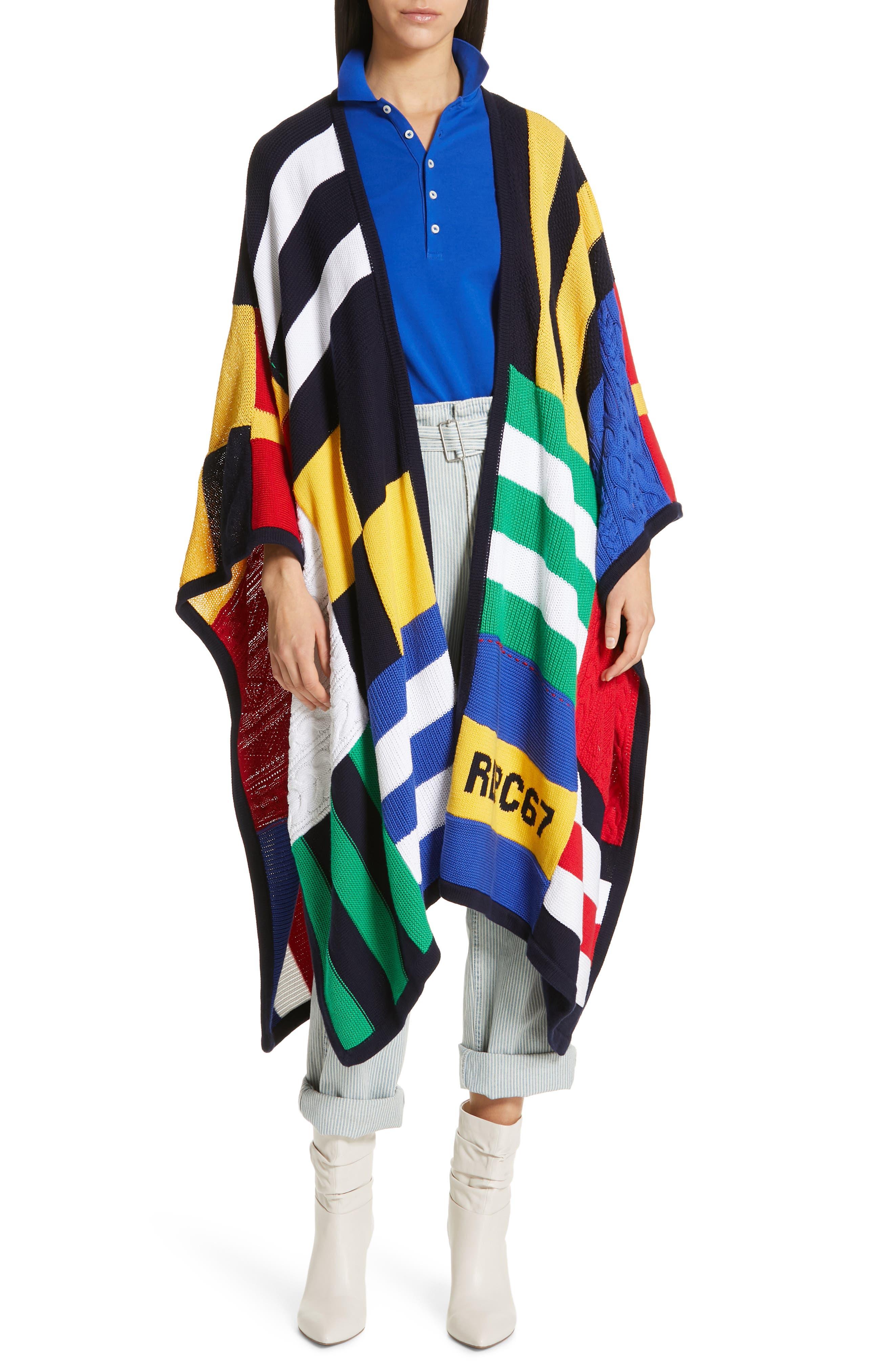 Paperbag Waist Jeans, Main, color, RAILROAD STRIPE
