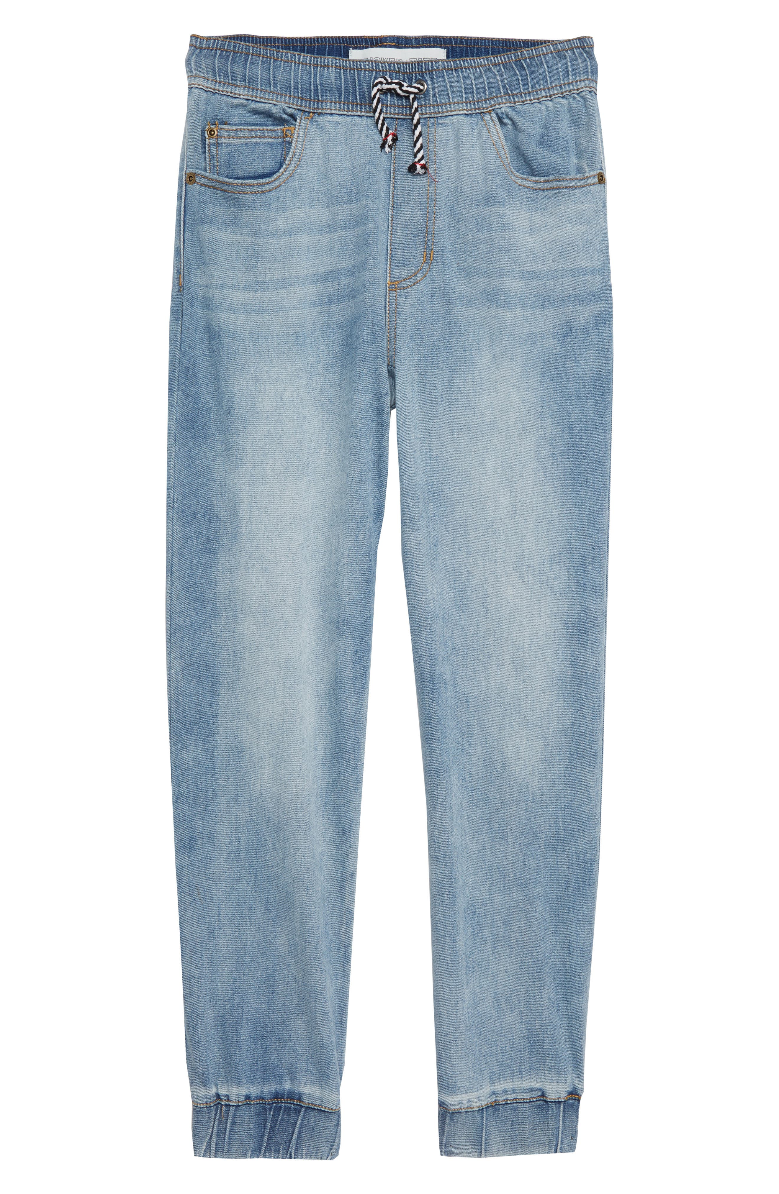 Denim Jogger Pants,                         Main,                         color, BRIDGER WASH
