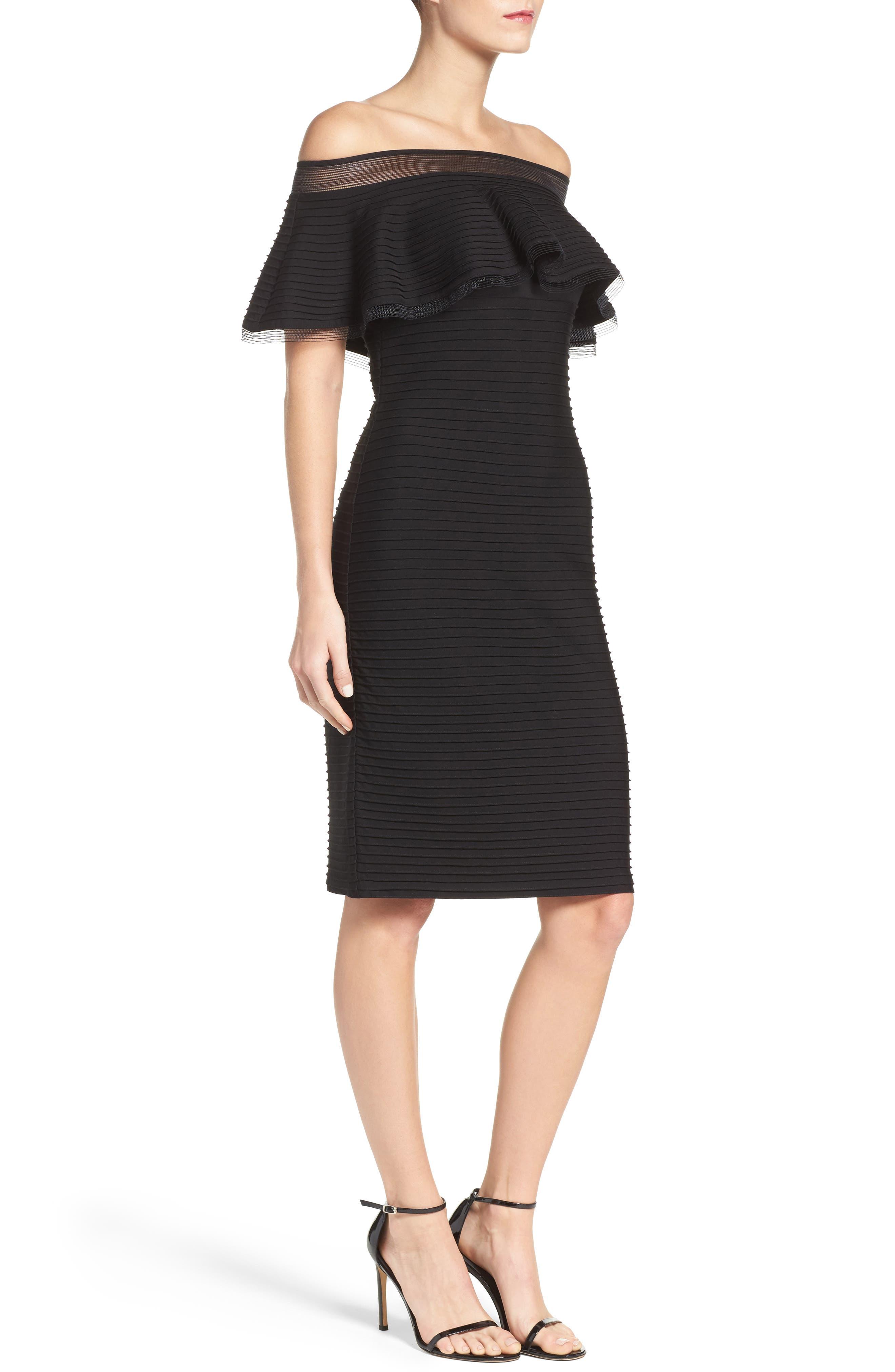 Jersey Sheath Dress,                             Alternate thumbnail 3, color,                             001