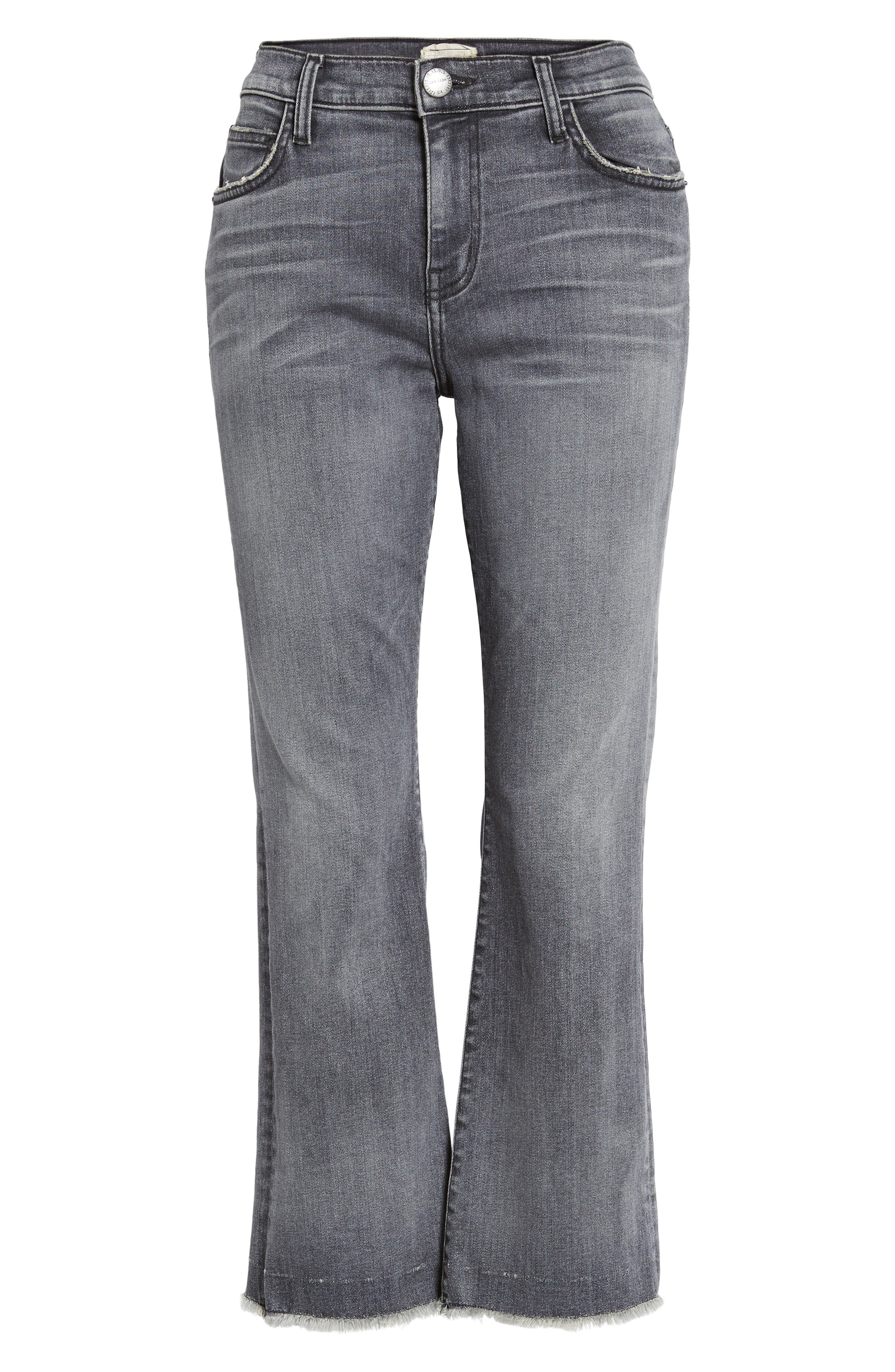 The Kick Raw Hem Crop Jeans,                             Alternate thumbnail 6, color,