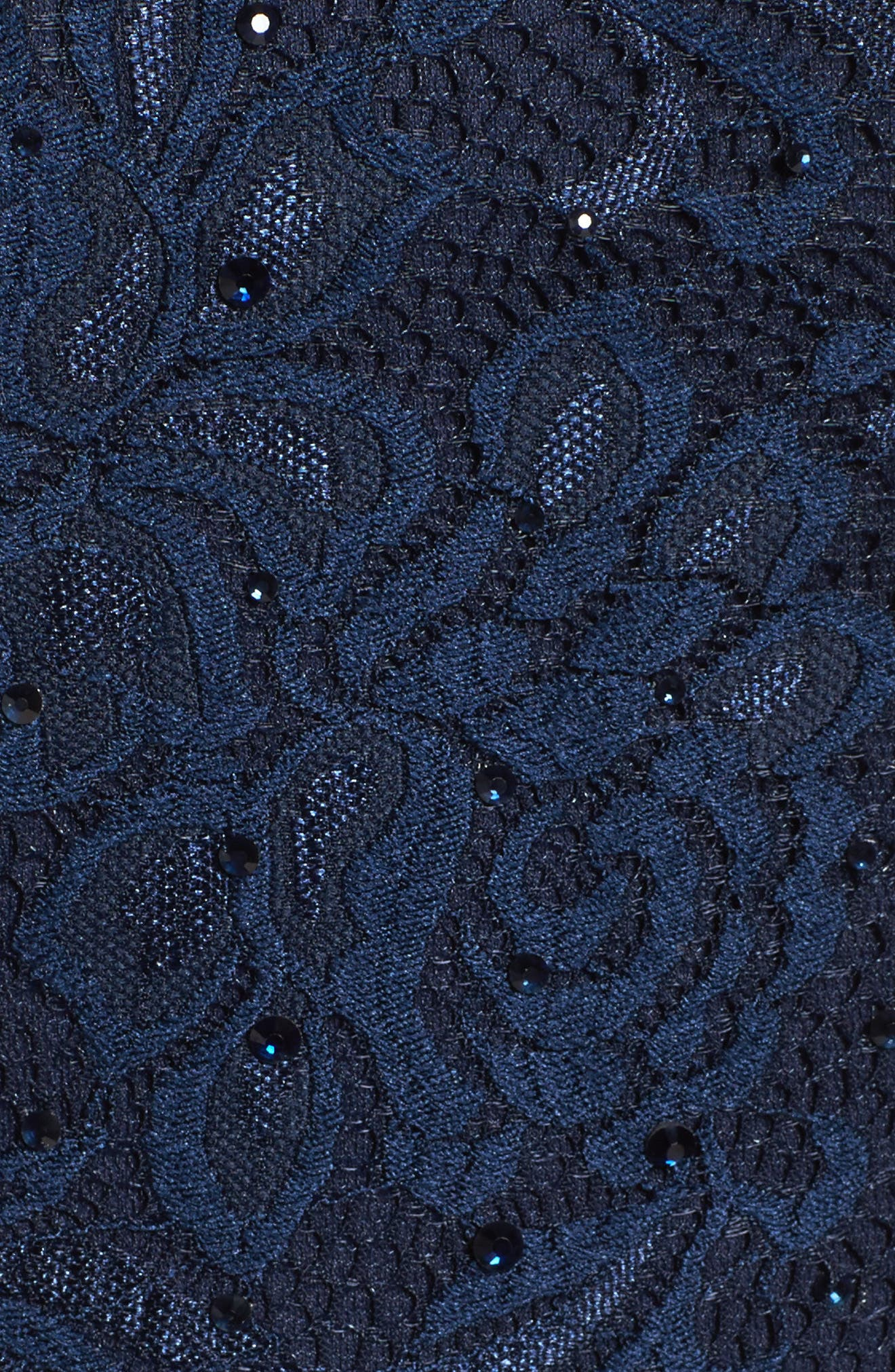 Embellished Lace Gown,                             Alternate thumbnail 6, color,                             NAVY