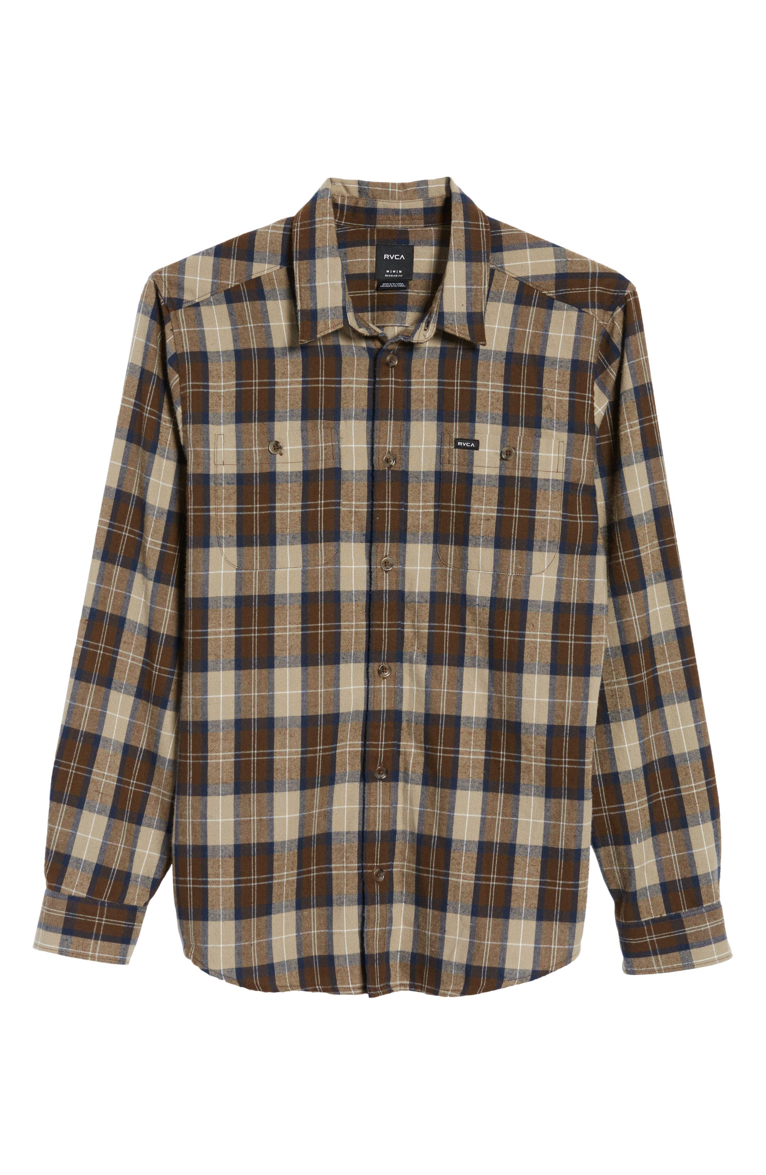Bone Flannel Shirt,                             Alternate thumbnail 6, color,                             250