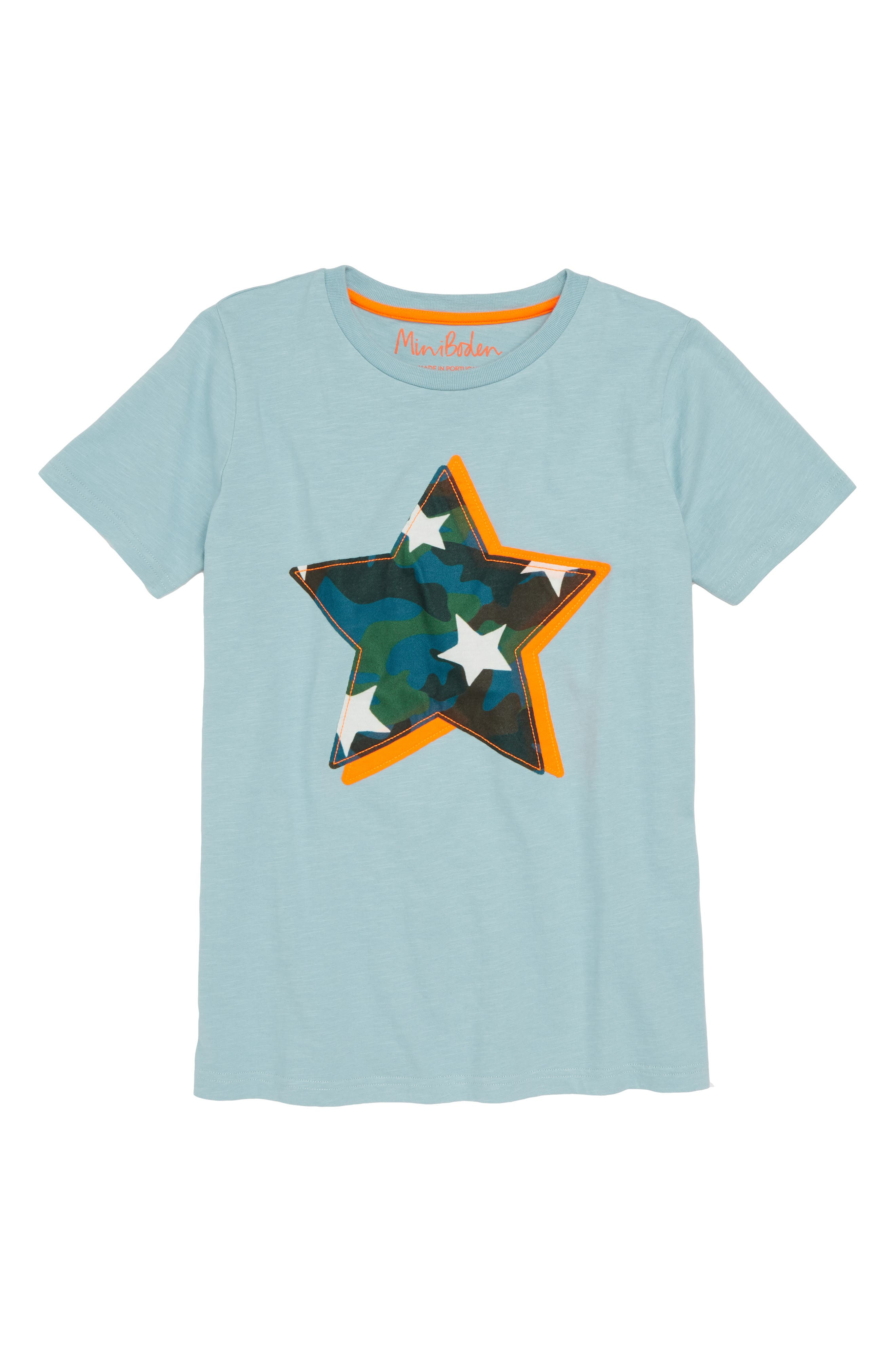 Star Appliqué T-Shirt,                             Main thumbnail 1, color,                             454