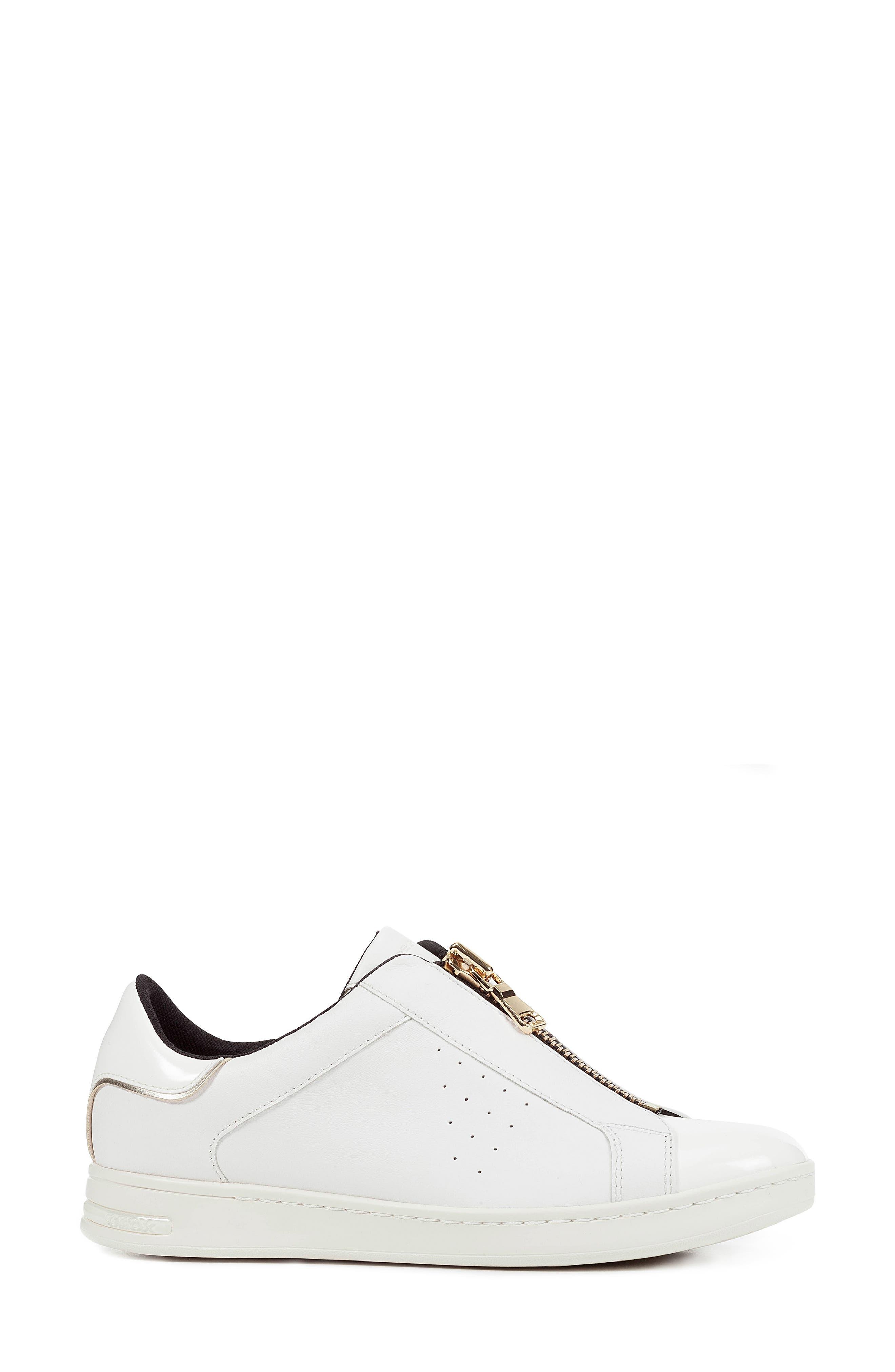 Jaysen Sneaker,                             Alternate thumbnail 3, color,                             WHITE LEATHER