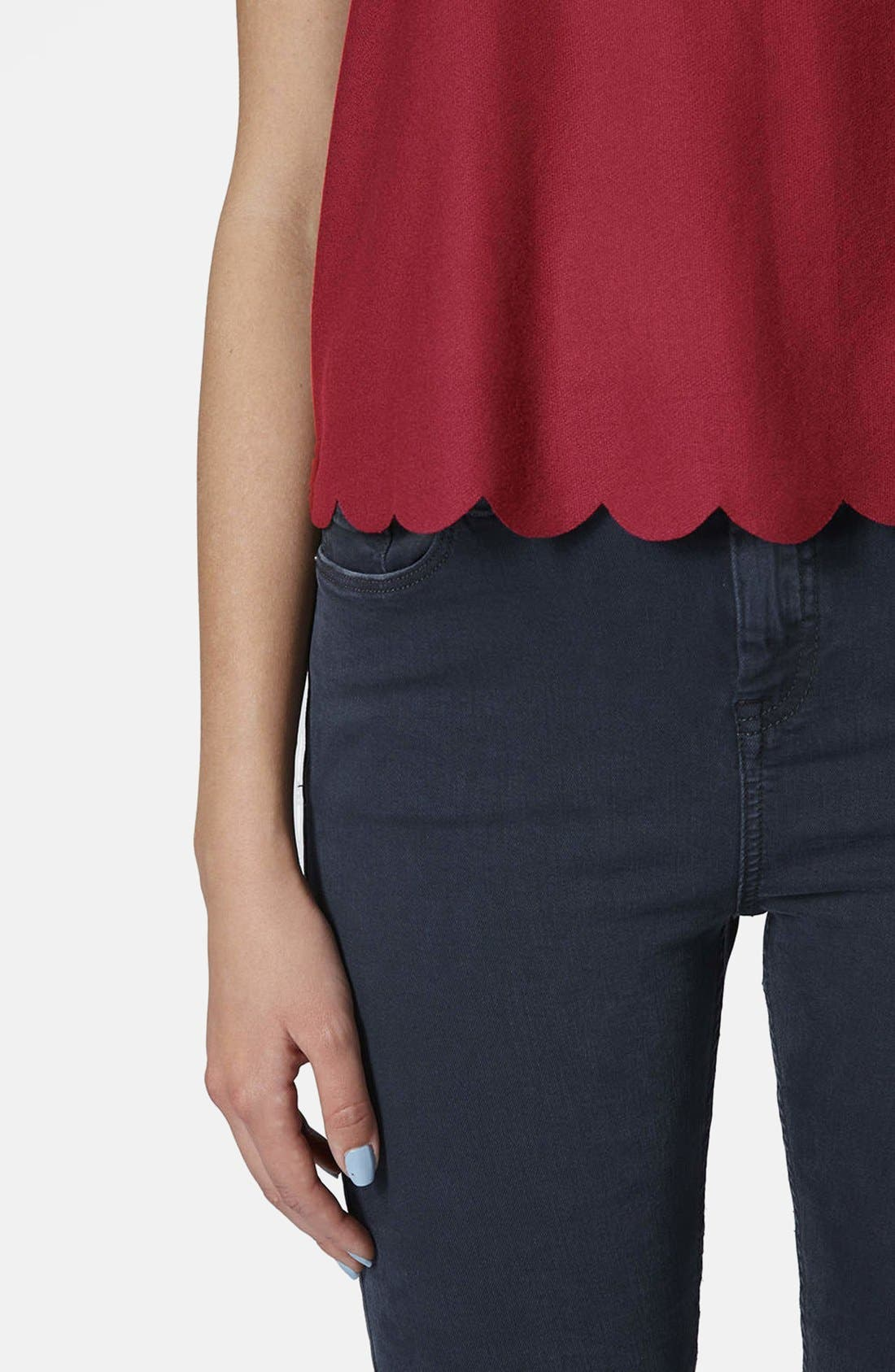Scallop Frill Tee,                             Alternate thumbnail 48, color,