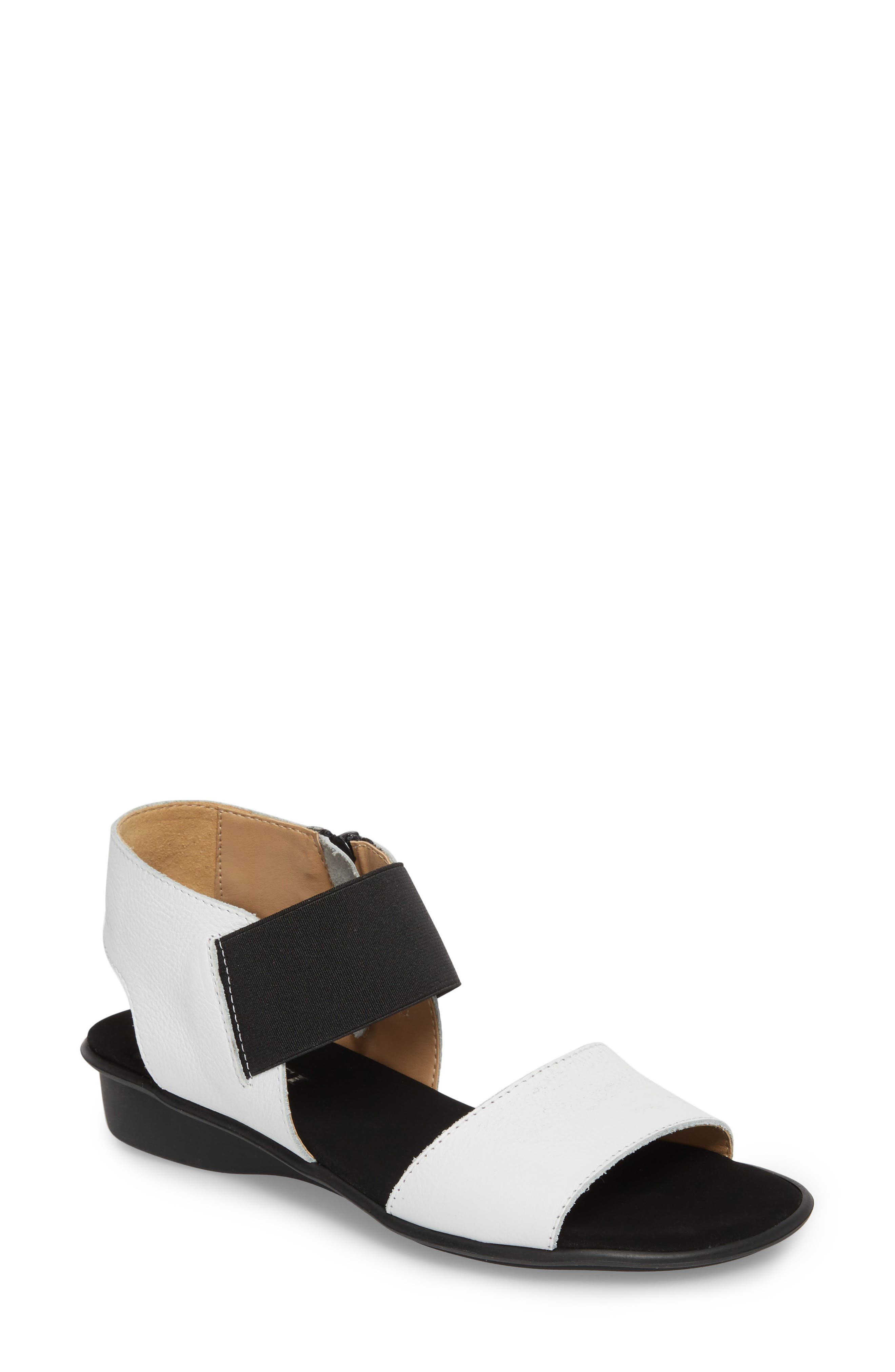 Eirlys Sandal,                         Main,                         color, WHITE FABRIC