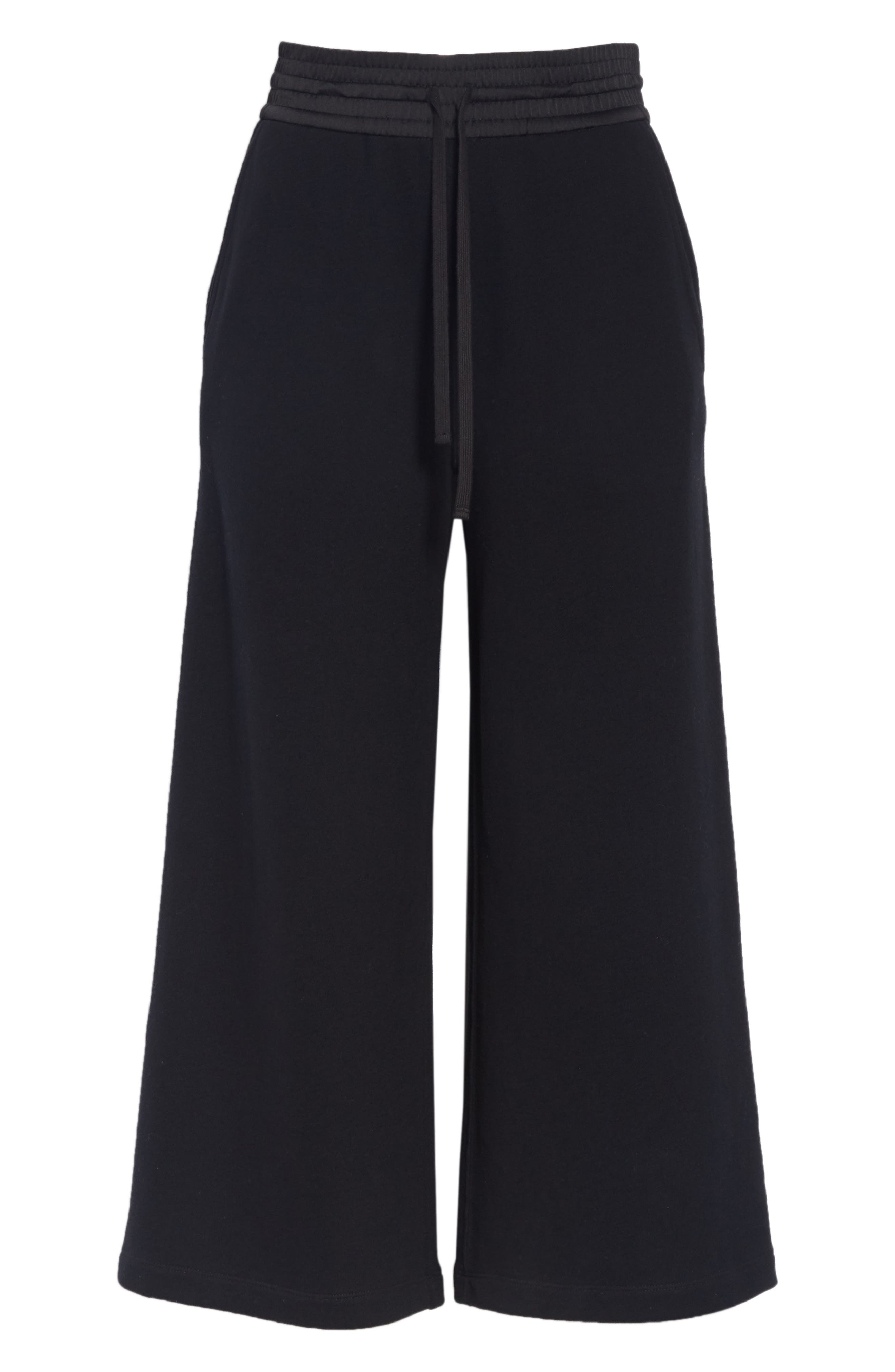 Cotton Culottes,                             Alternate thumbnail 6, color,                             BLACK