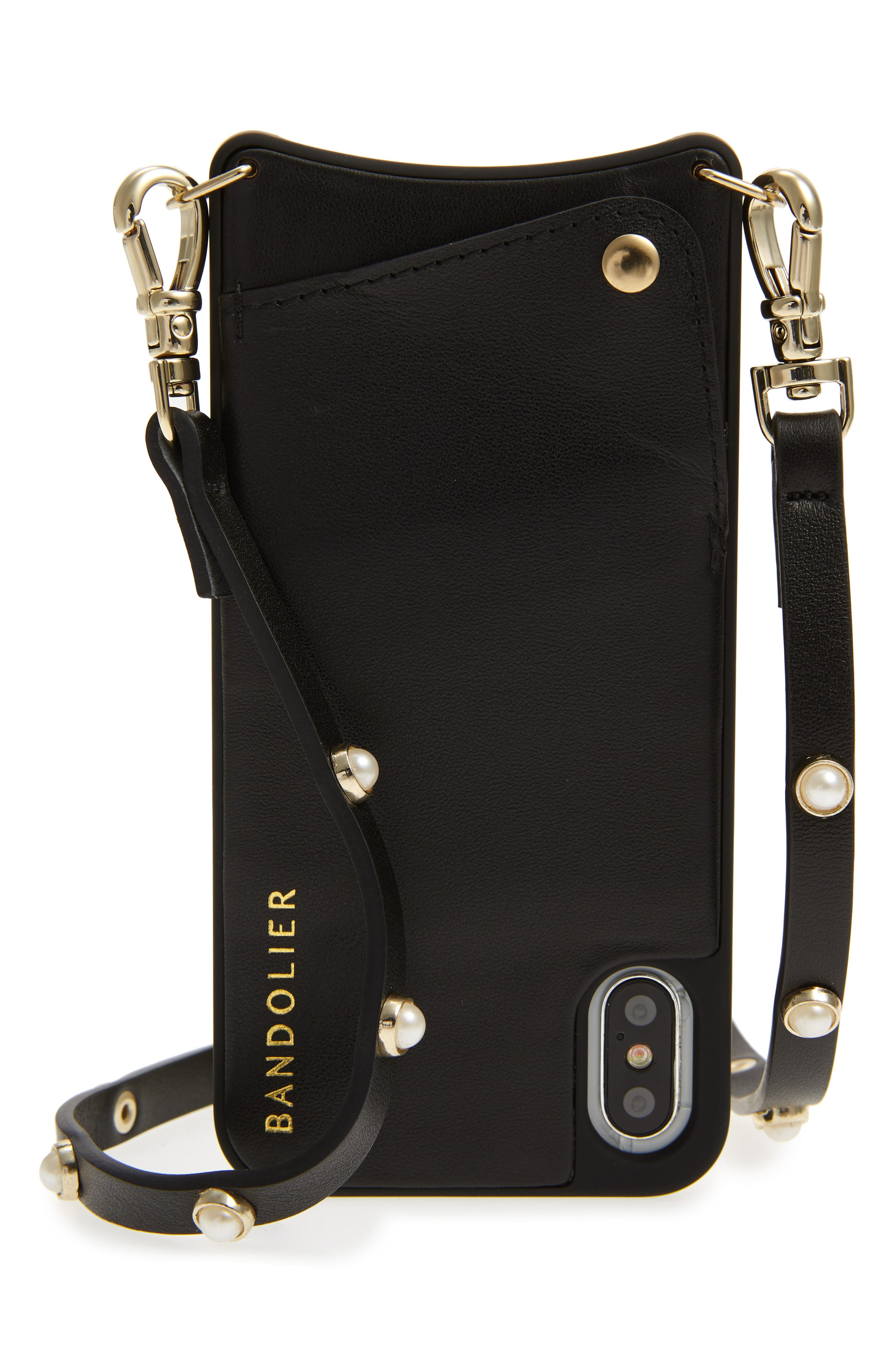Claire Leather iPhone X & Xs Crossbody Case,                         Main,                         color,