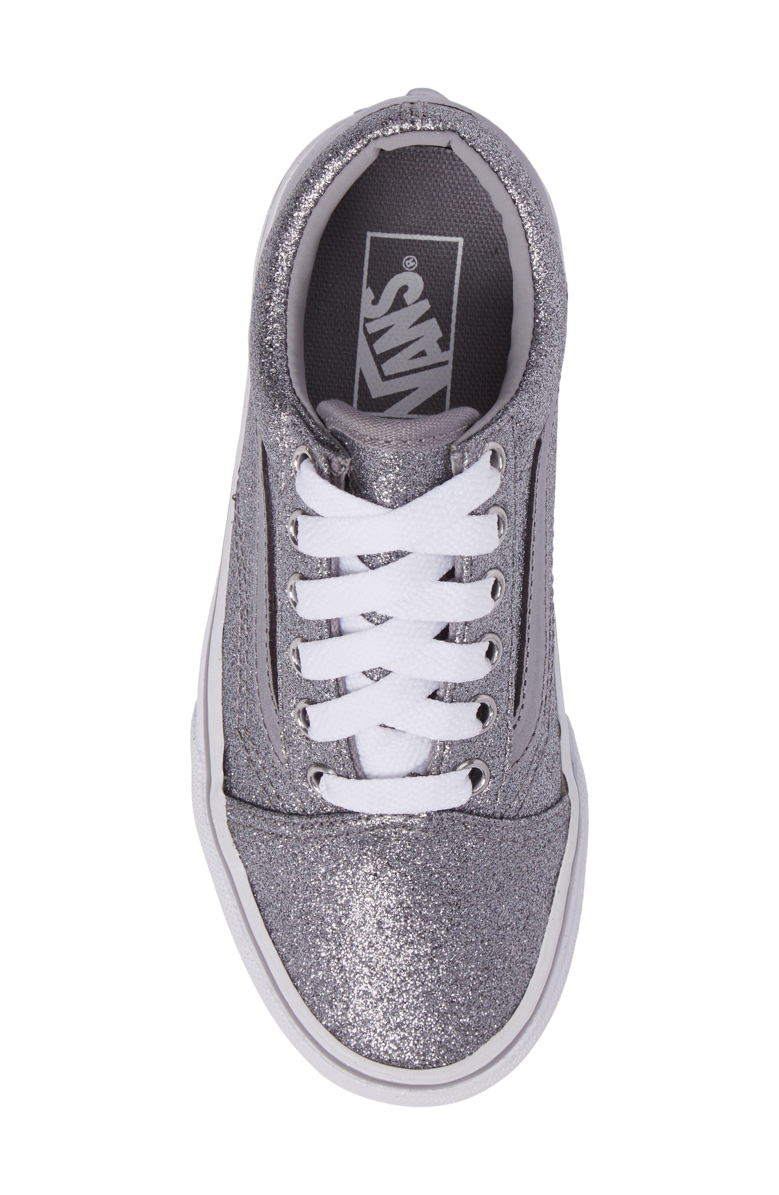 Old Skool Glitter Sneaker,                             Alternate thumbnail 5, color,                             040