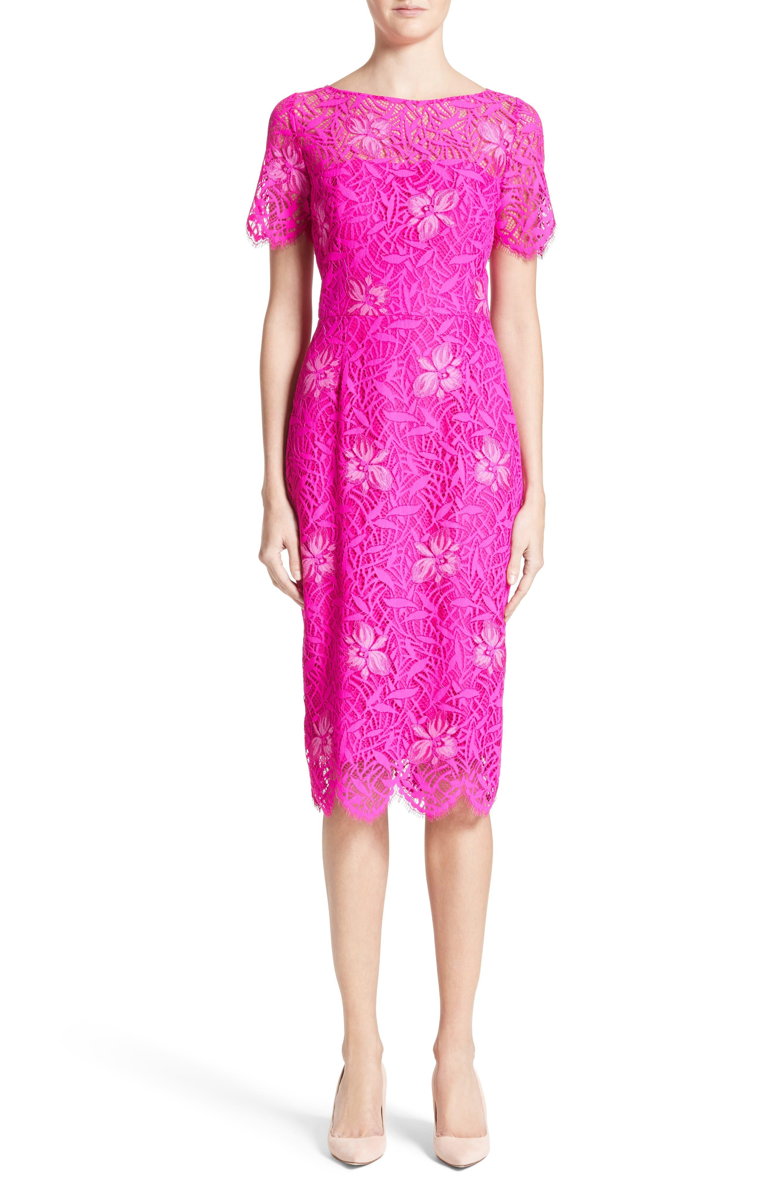 Floral Lace Sheath Dress,                         Main,                         color, 659
