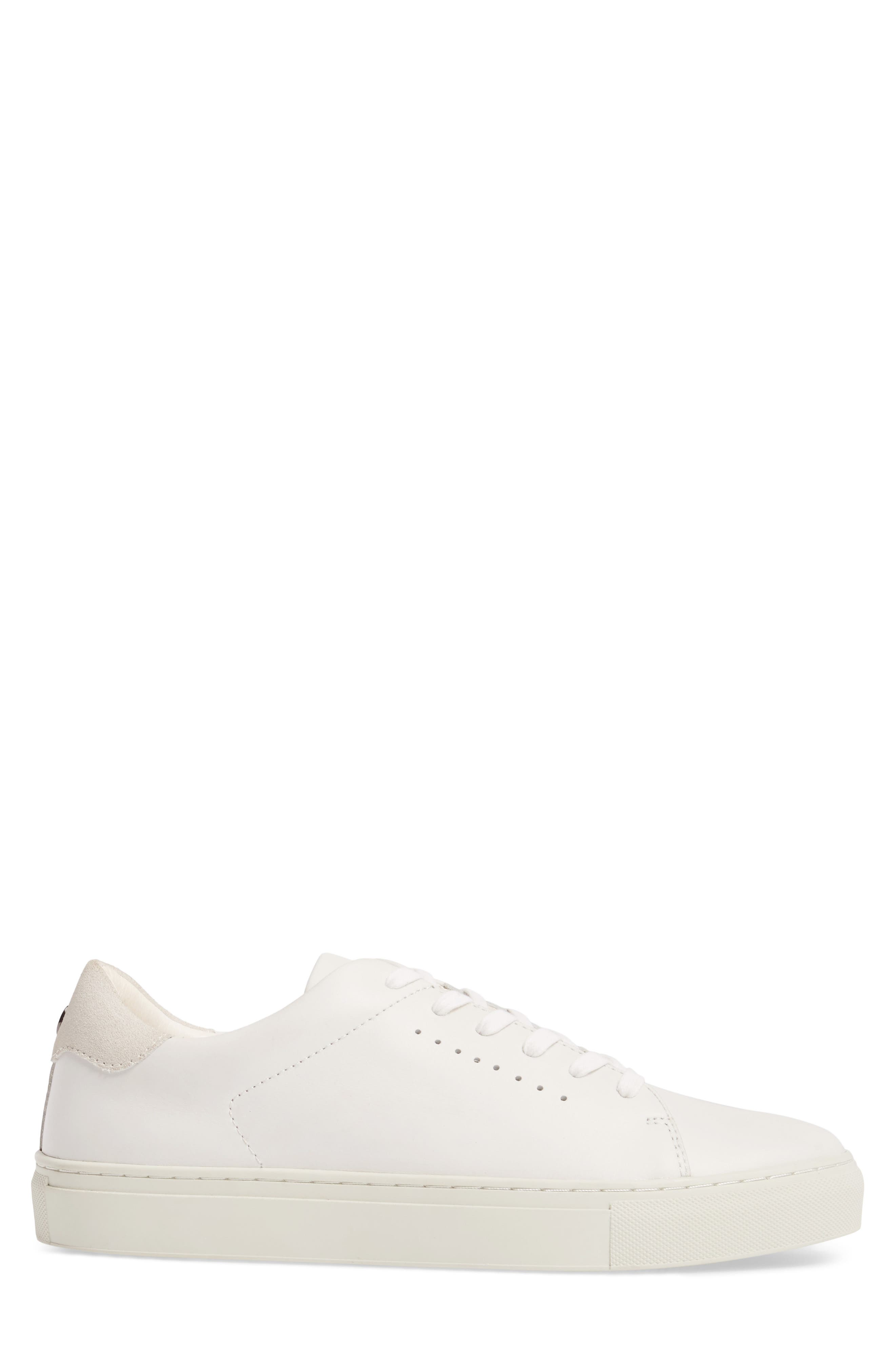 Desmond Sneaker,                             Alternate thumbnail 3, color,                             WHITE LEATHER