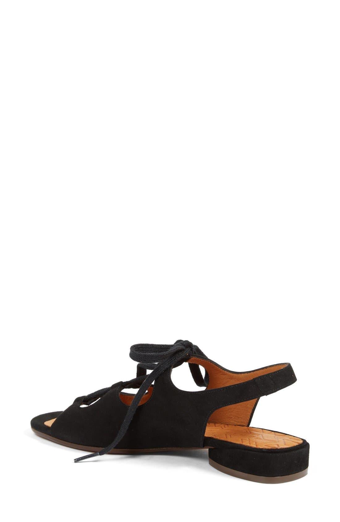 Nalia Lace-Up Sandal,                             Alternate thumbnail 2, color,                             001