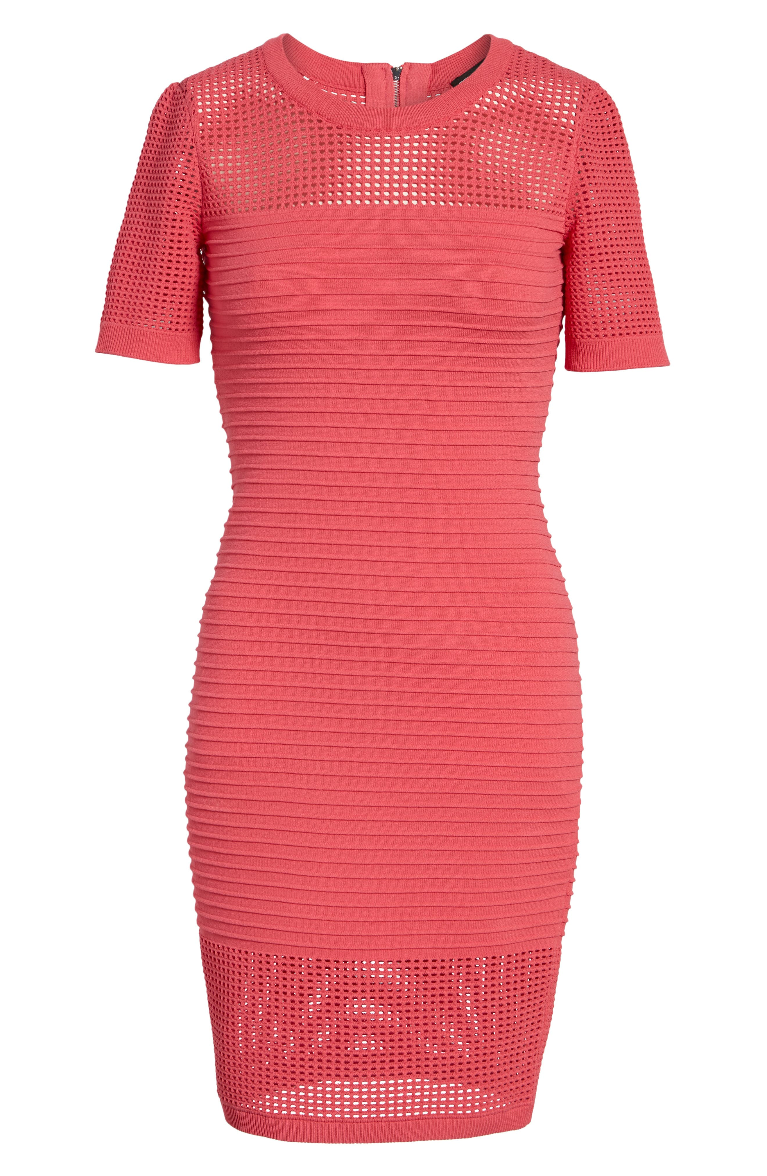 Open Weave Body-Con Dress,                             Alternate thumbnail 7, color,                             650