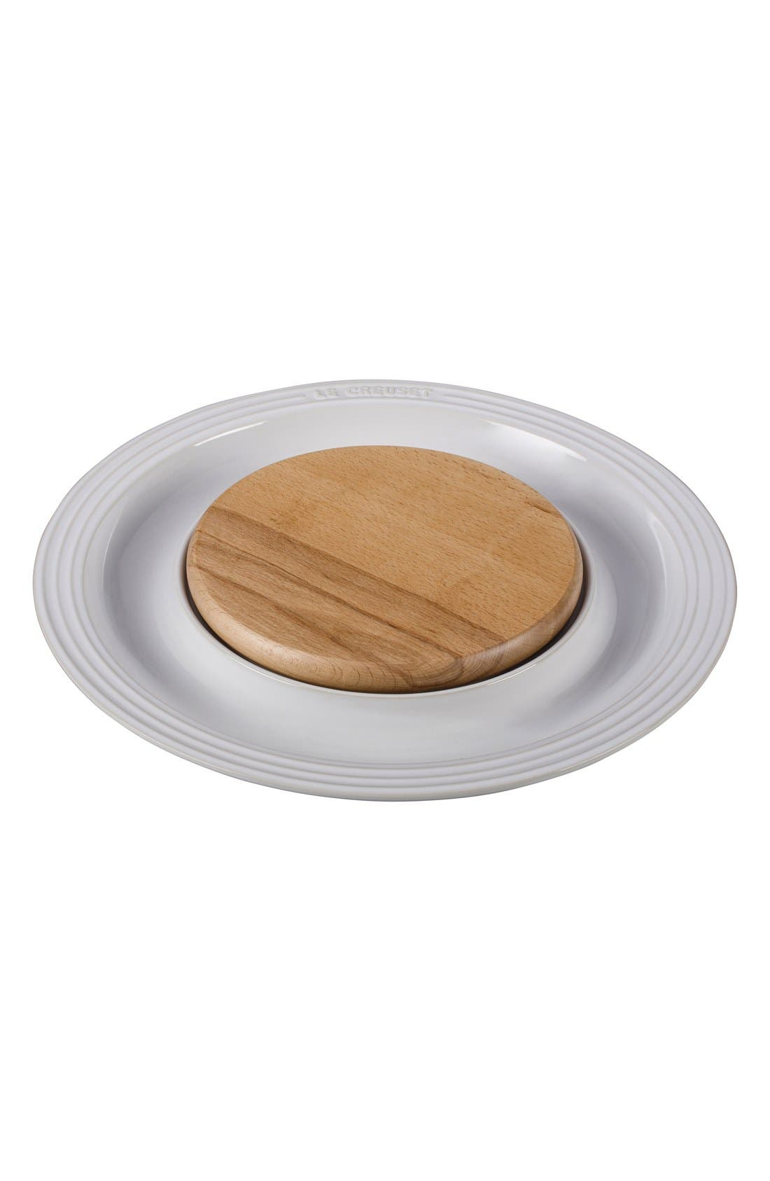 Round Platter with Cutting Board,                         Main,                         color, 100
