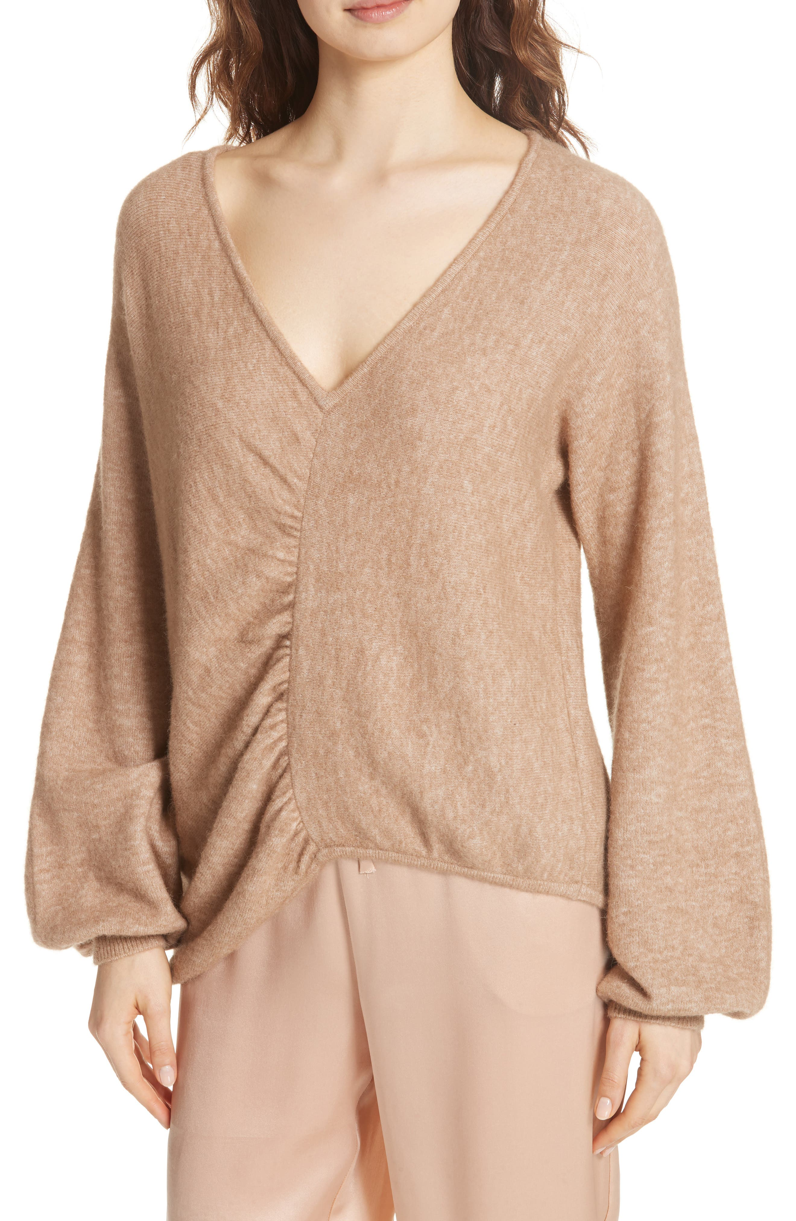 Meridien Sweater,                             Alternate thumbnail 4, color,                             CAMEL